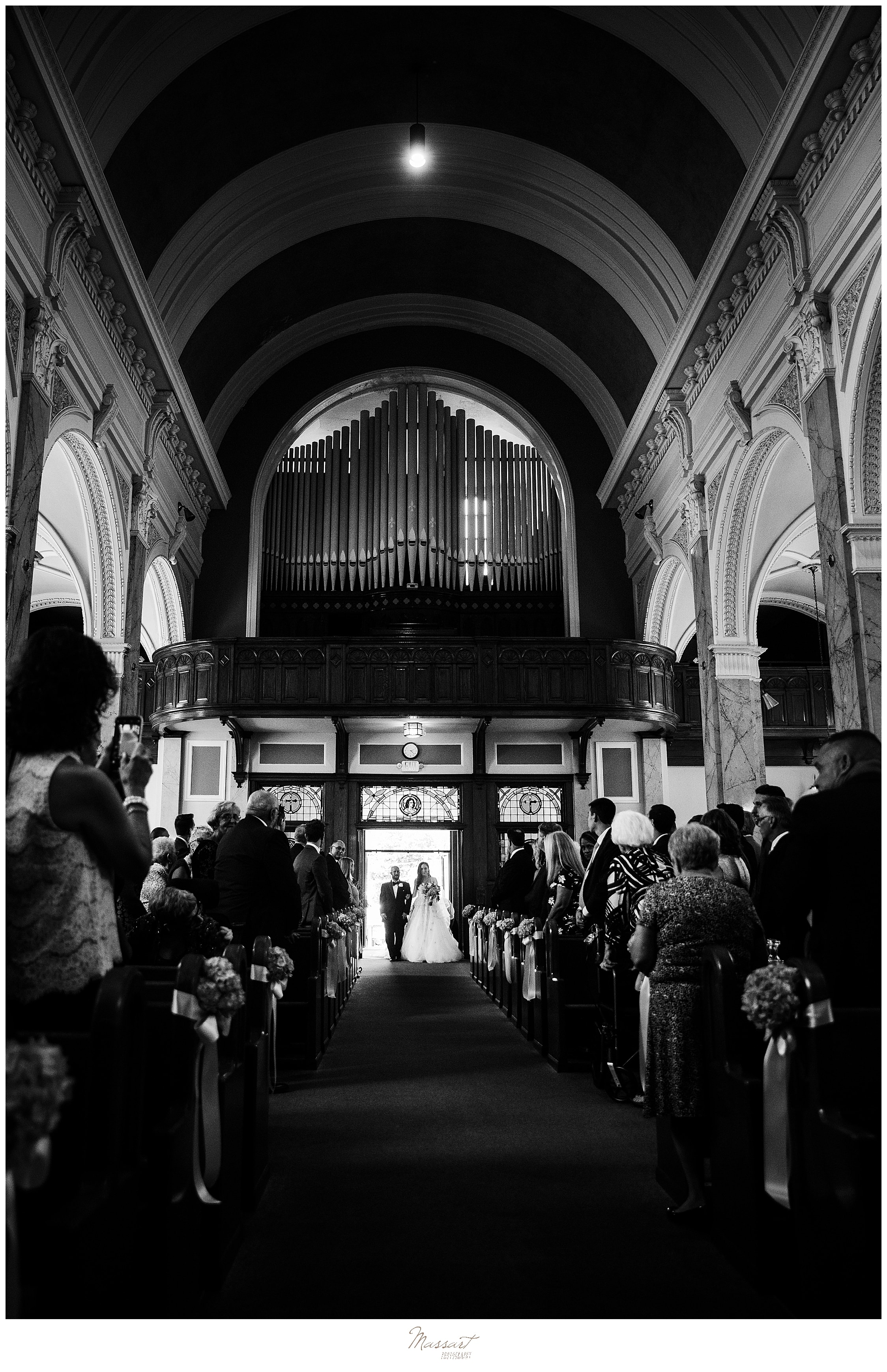 Providence RI church wedding day photographed by wedding photographers Massart Photography