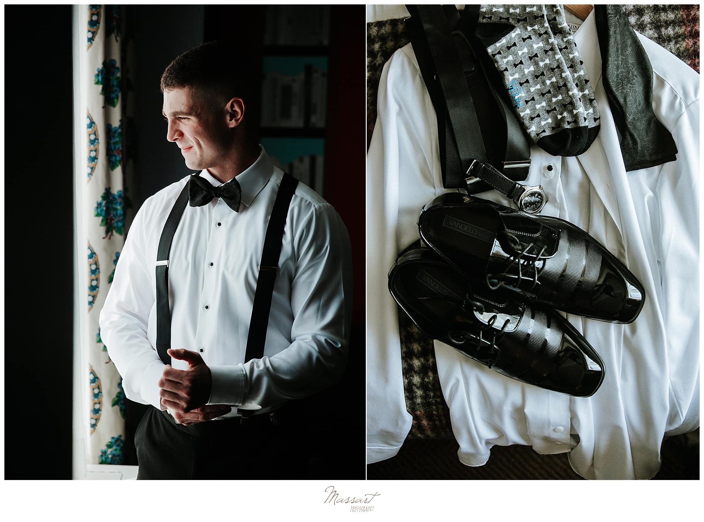 groom's details photographed by CT, MA, RI wedding photographers Massart Photography