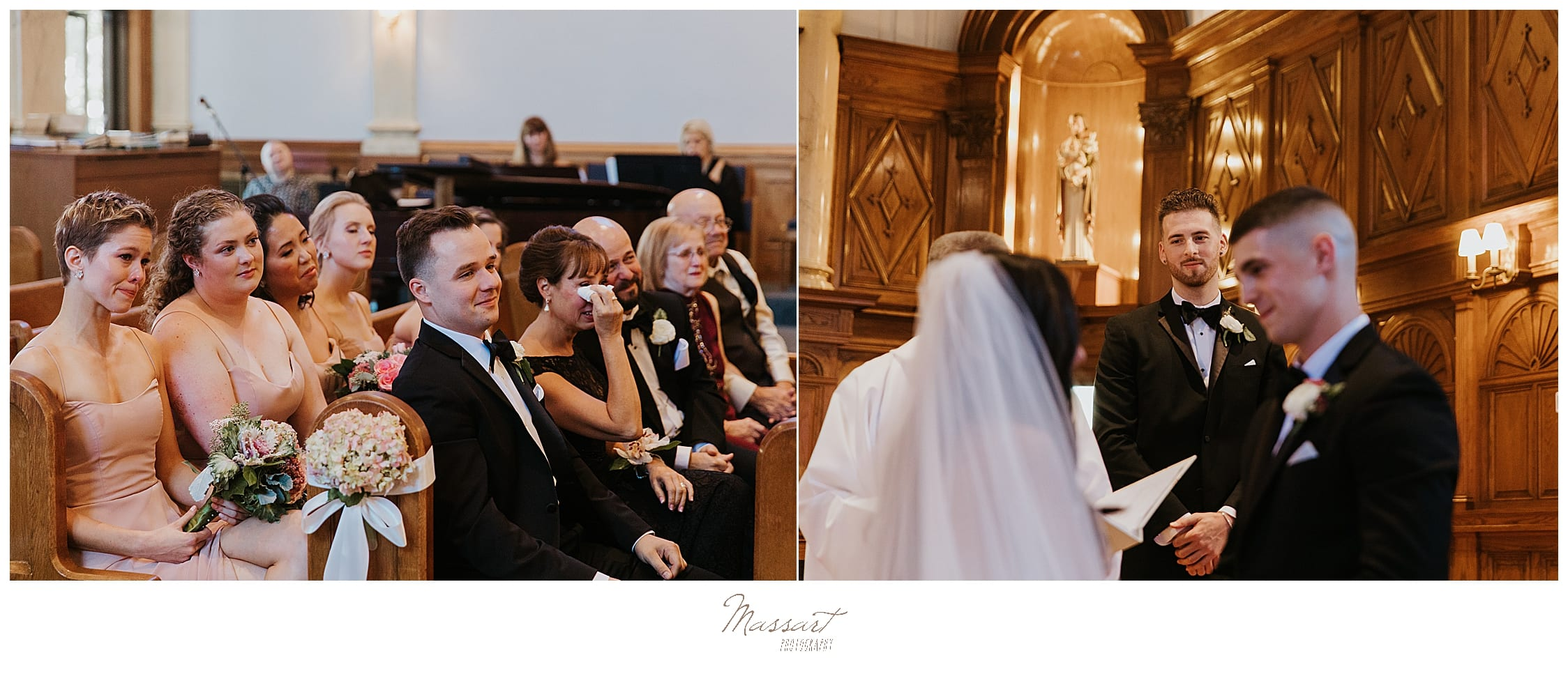church wedding photographed by wedding photographers Massart Photography