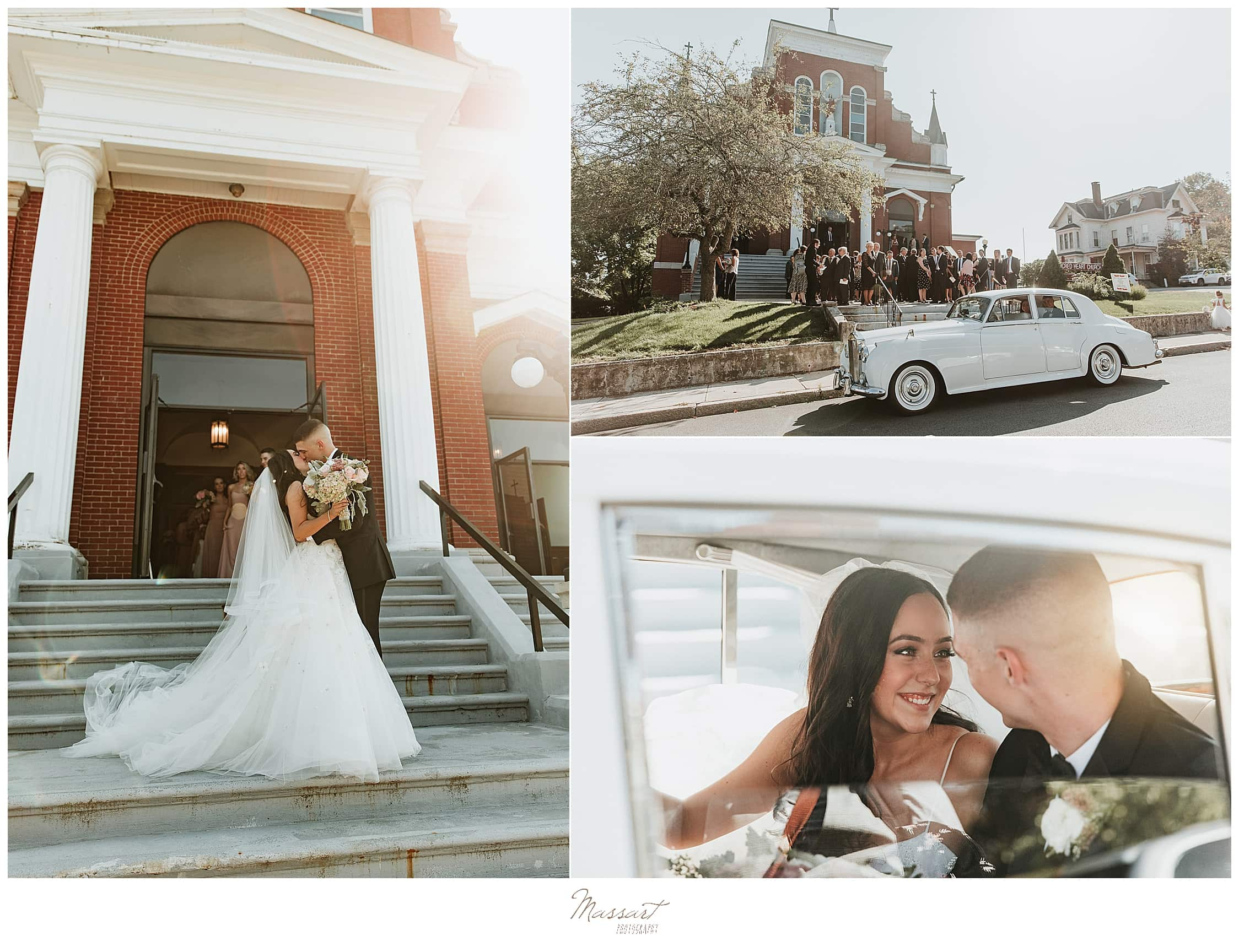 Graduate Providence wedding portraits by RI wedding photographers Massart Photography
