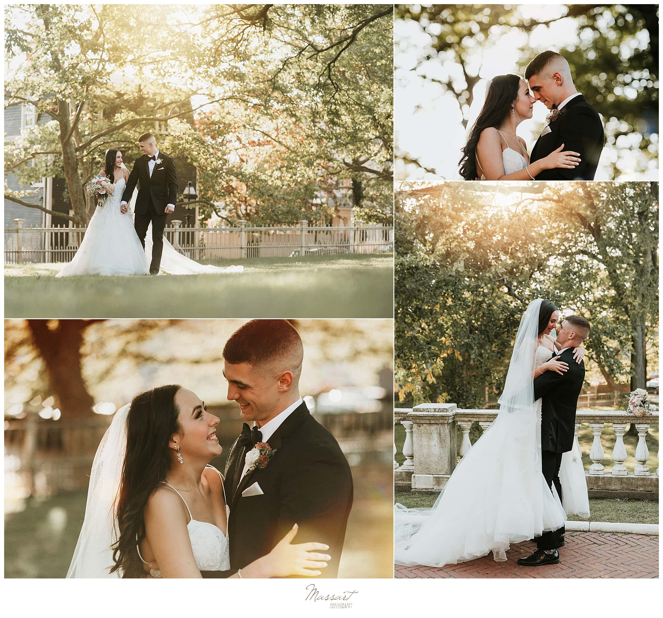 romantic wedding portraits by Rhode Island wedding photographers Massart Photography