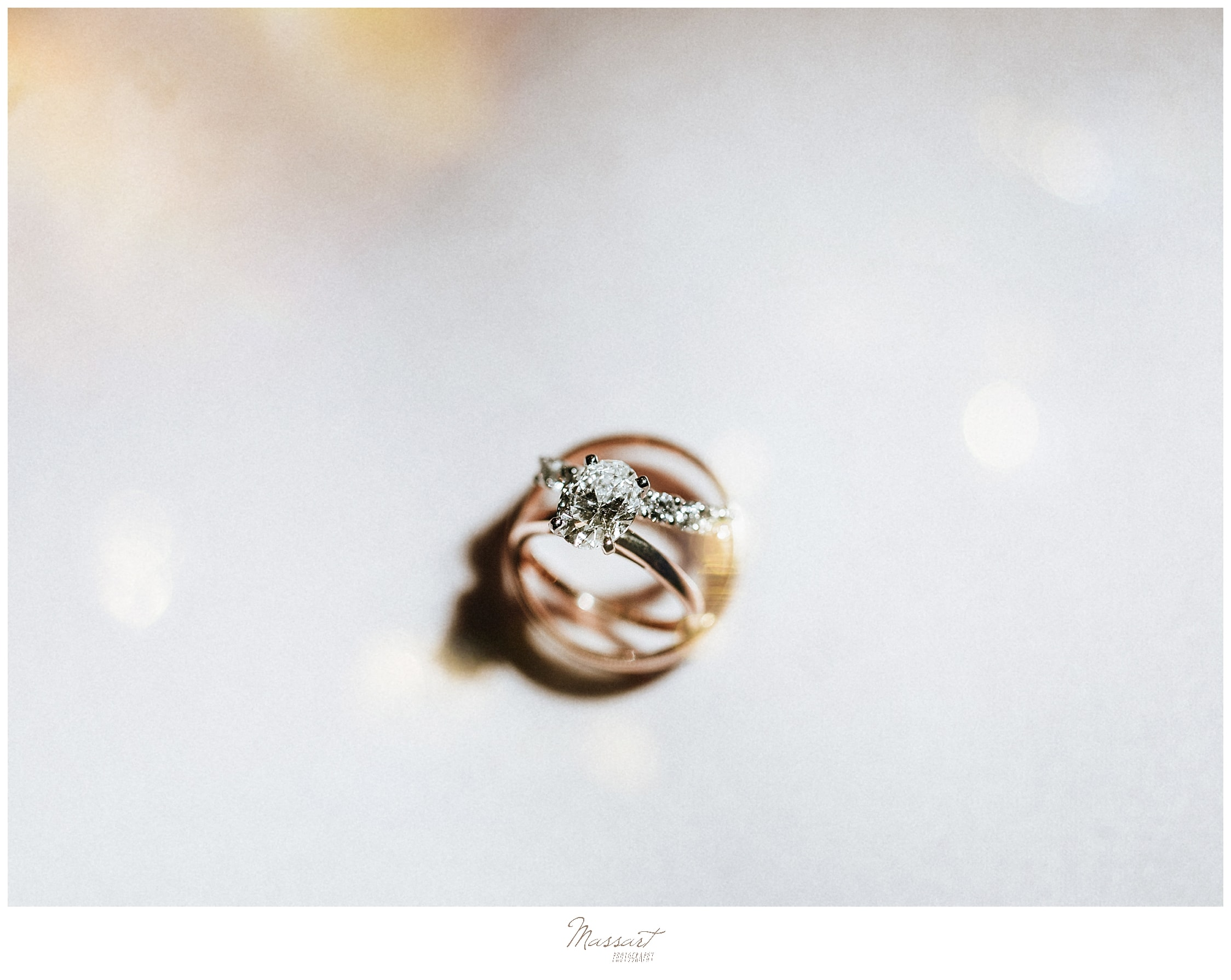 wedding rings photographed by wedding photographers Massart Photography