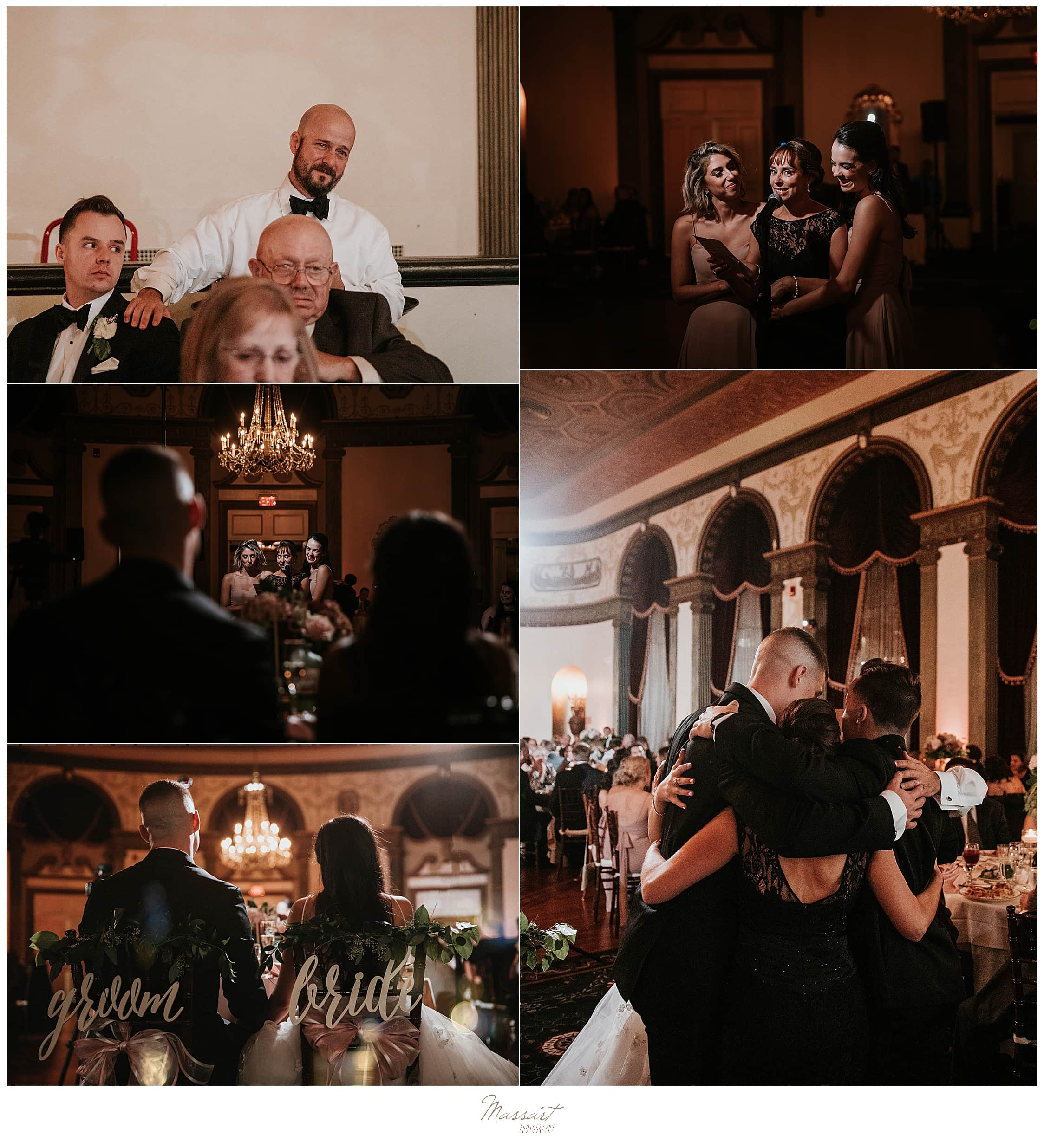 wedding reception at the Graduate Providence photographed by wedding photographers Massart Photography