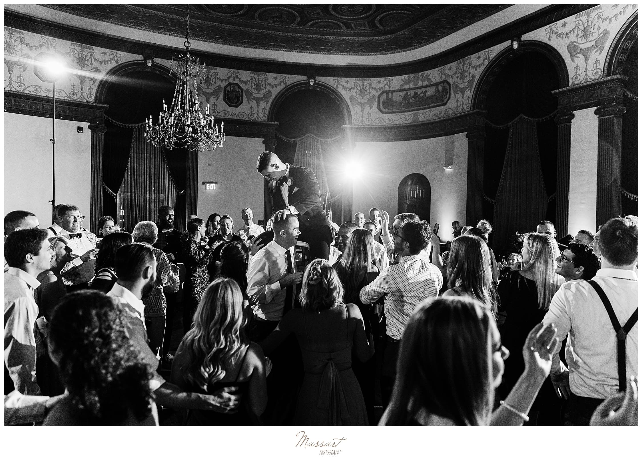 Providence RI wedding day reception photographed by wedding photographers Massart Photography