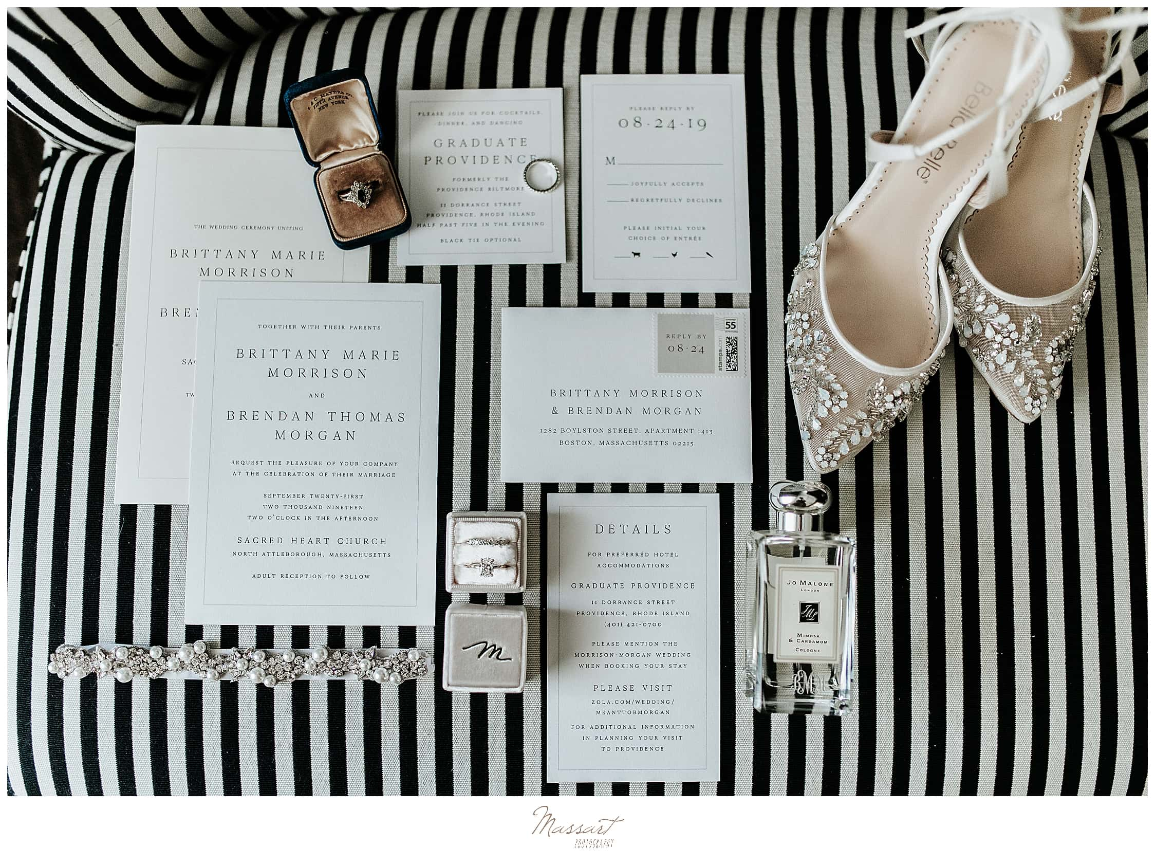 bride's details and stationery photographed by wedding photographers Massart Photography