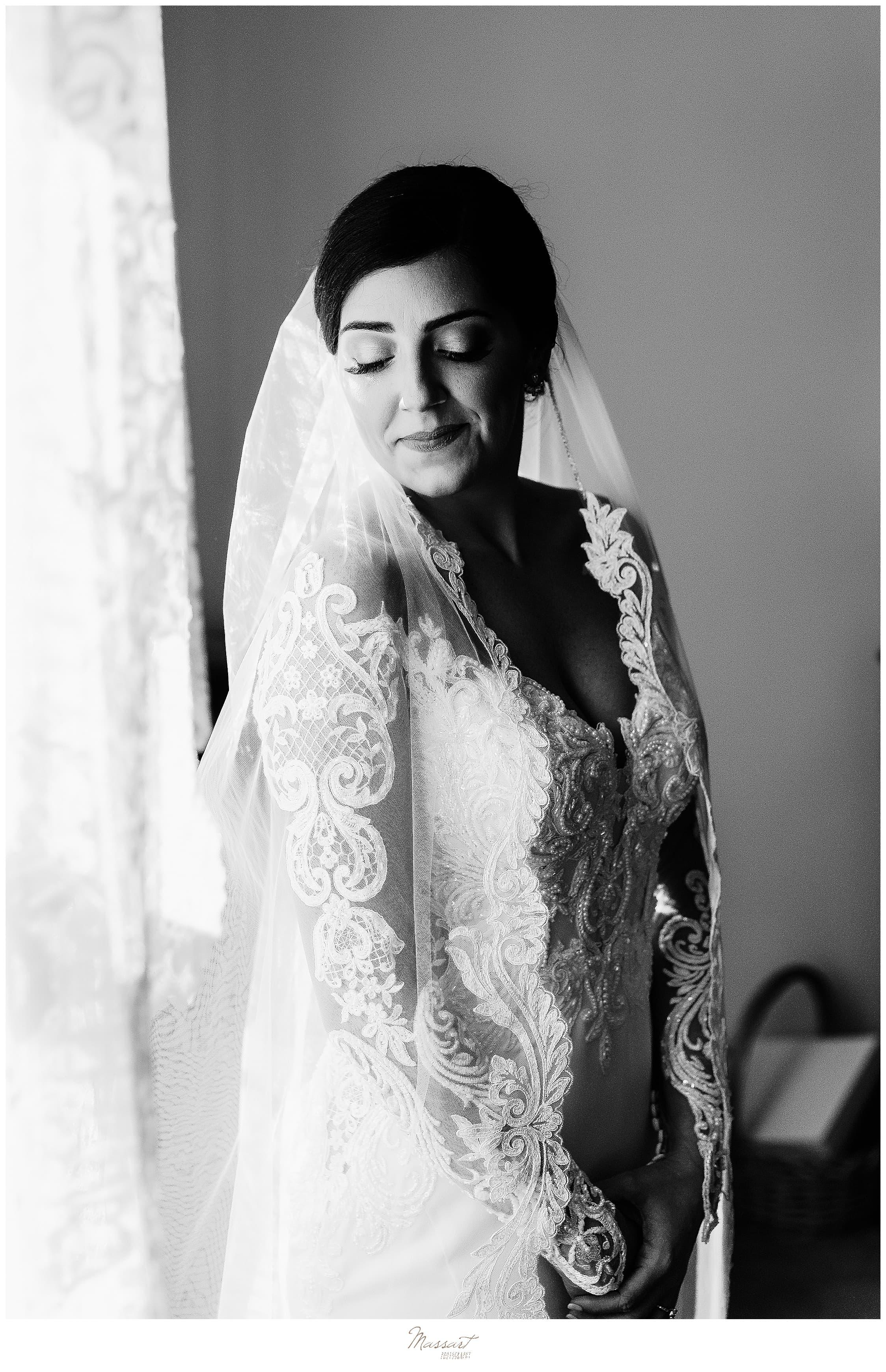 bridal portrait in Foxboro MA by Massart Photography
