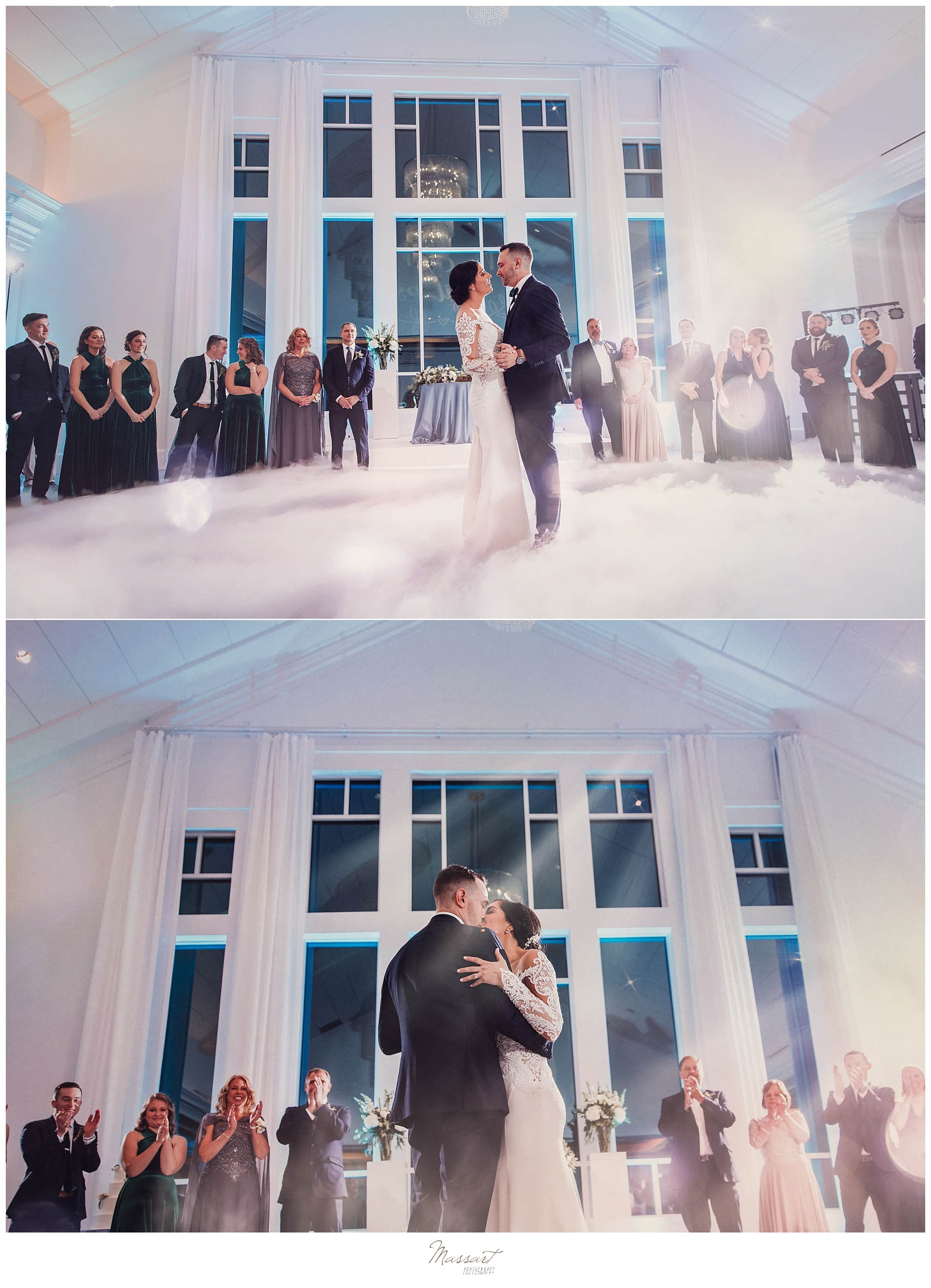 wedding first dance photographed by Massart Photography