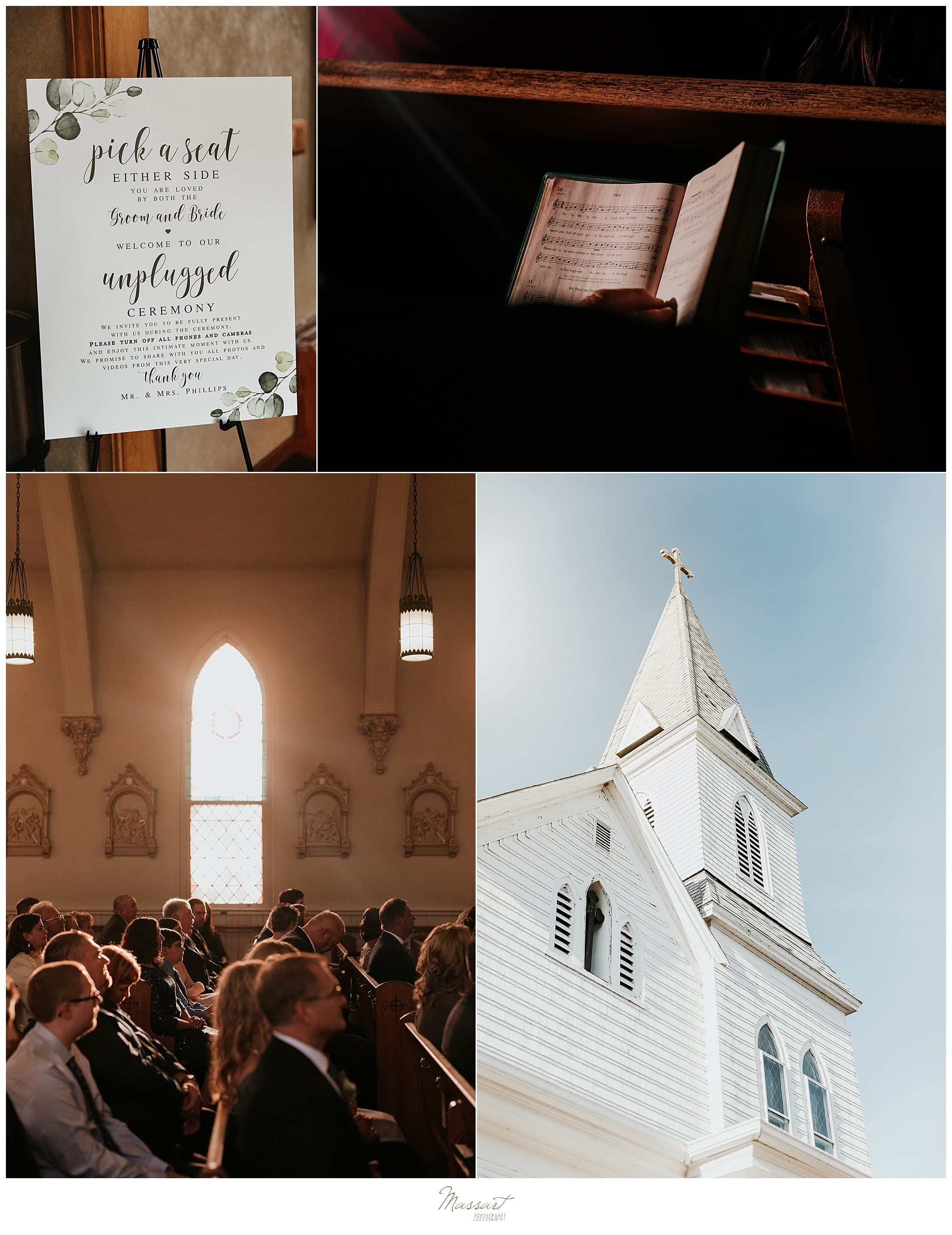 wedding ceremony in Foxboro MA photographed by Massart Photography