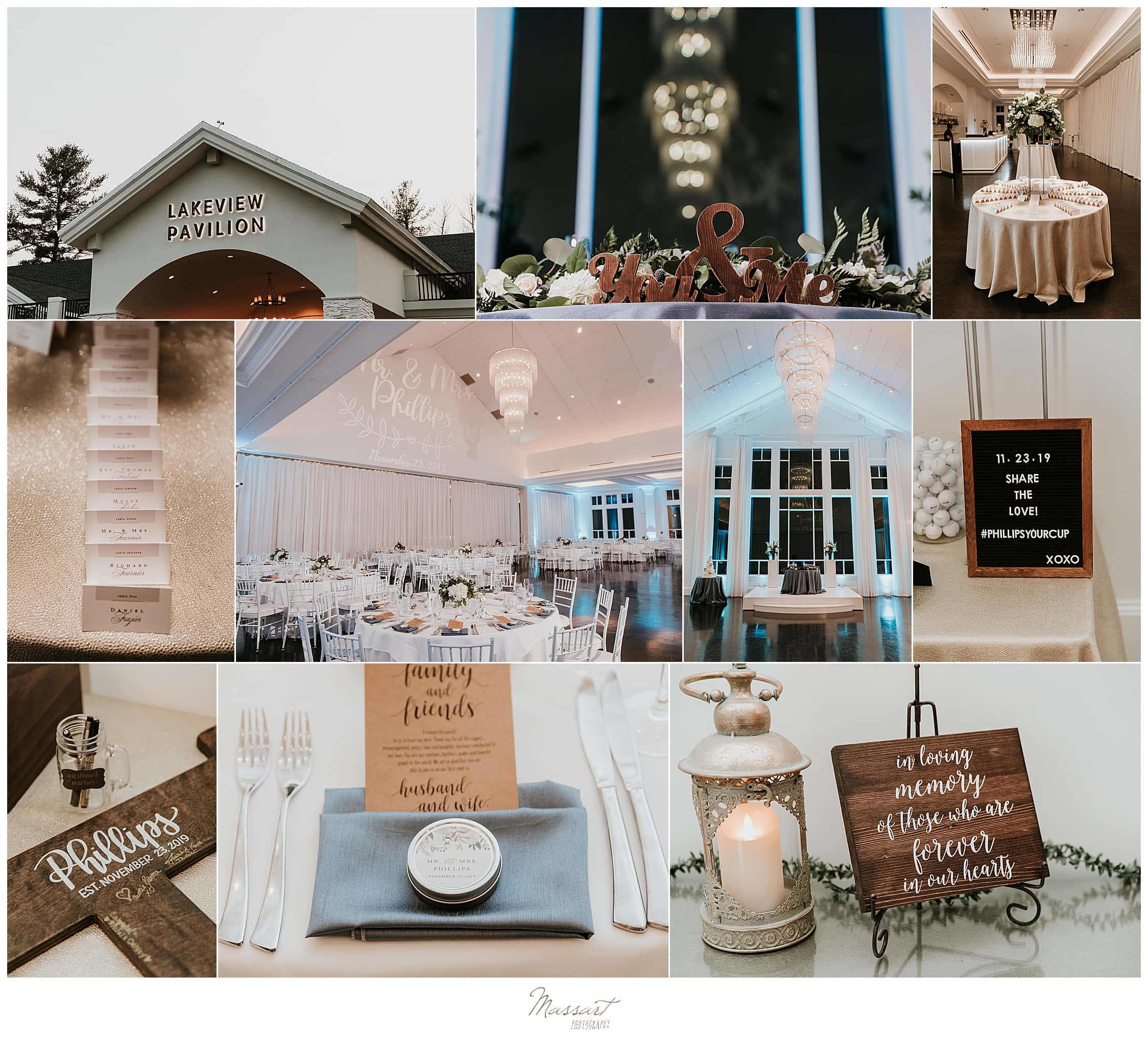 Massart Photography captures reception details at Lakeview Pavilion in Foxboro MA