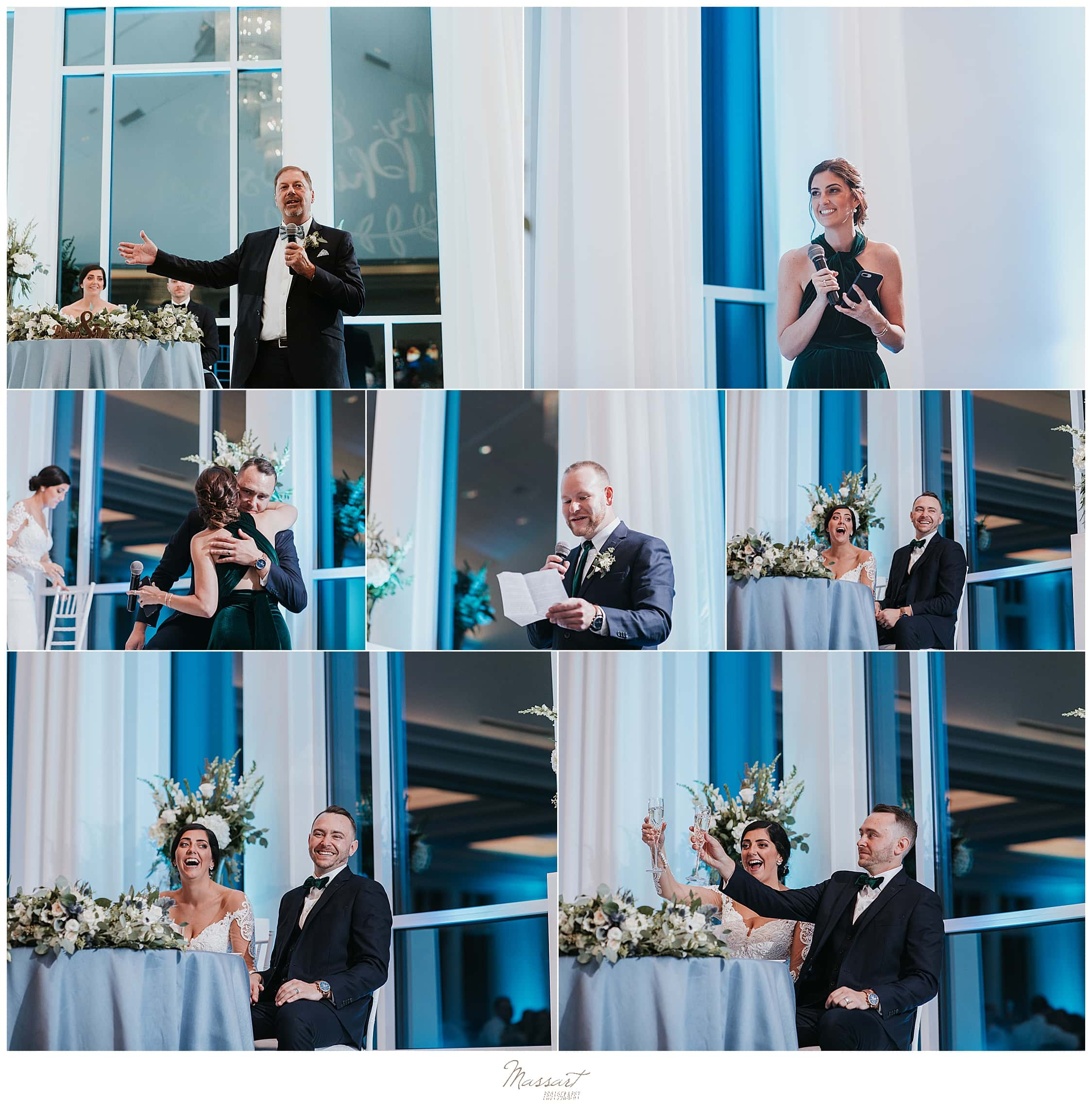 classic wedding reception at Lakeview Pavilion wedding with Massart Photography