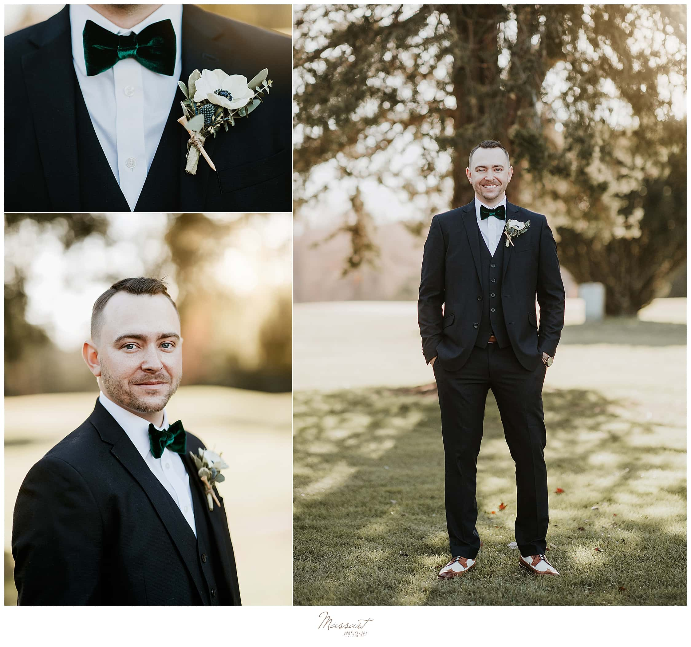 classic groom's portraits with Massart Photography