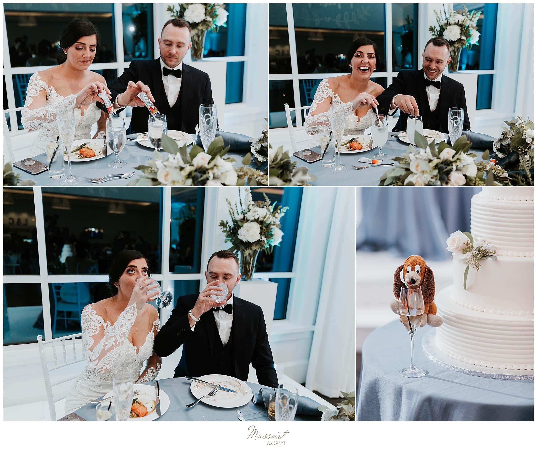 Massart Photography photographs toasts during MA wedding day