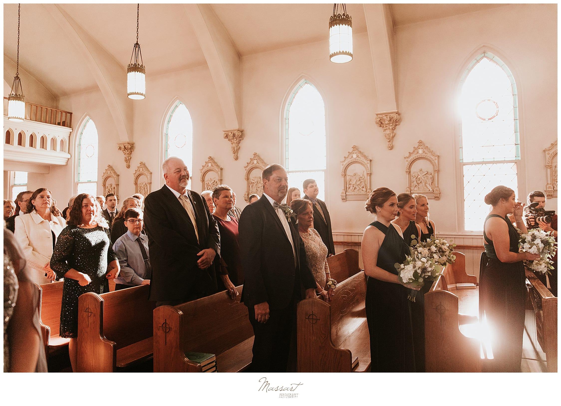 RI, CT, MA wedding photographers Massart Photography capture traditional church wedding