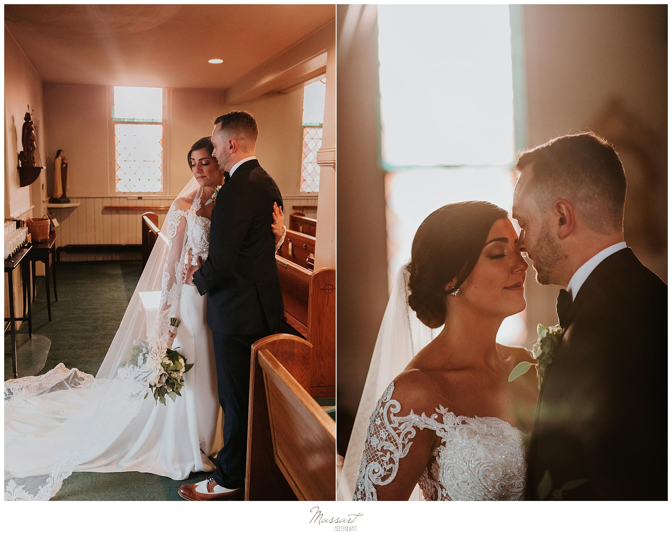 wedding portraits at Lakeview Pavilion with Massart Photography