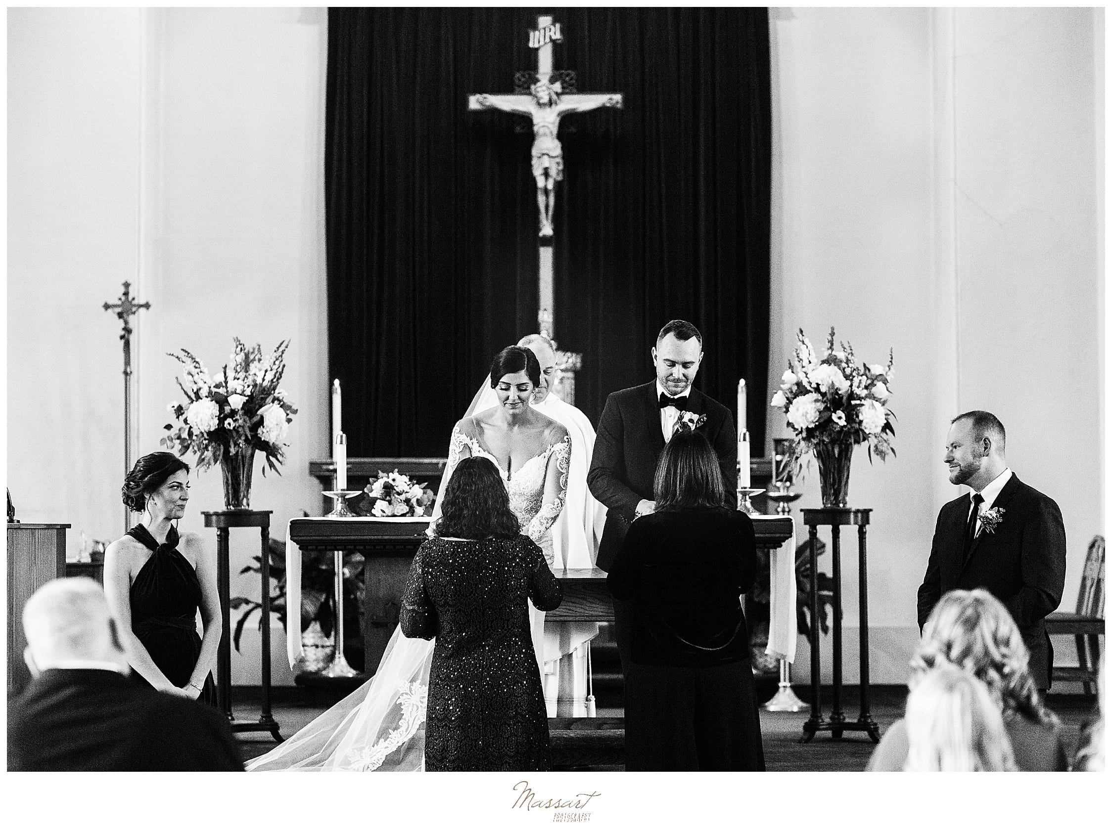 traditional wedding ceremony photographed by MA wedding photographers Massart Photography