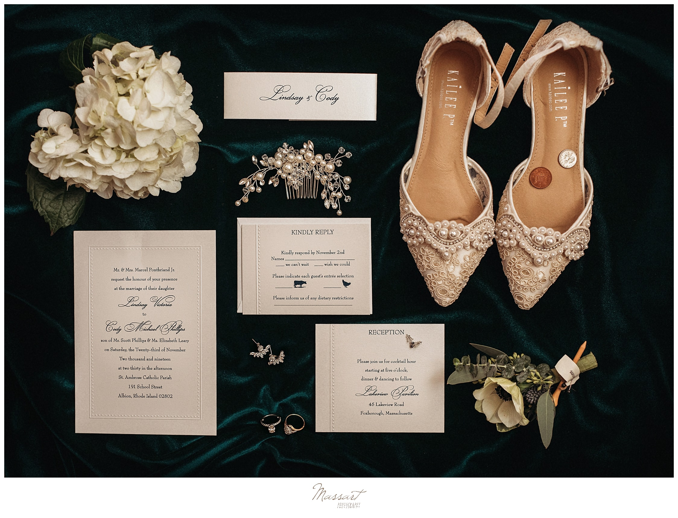 wedding day details photographed by Massart Photography