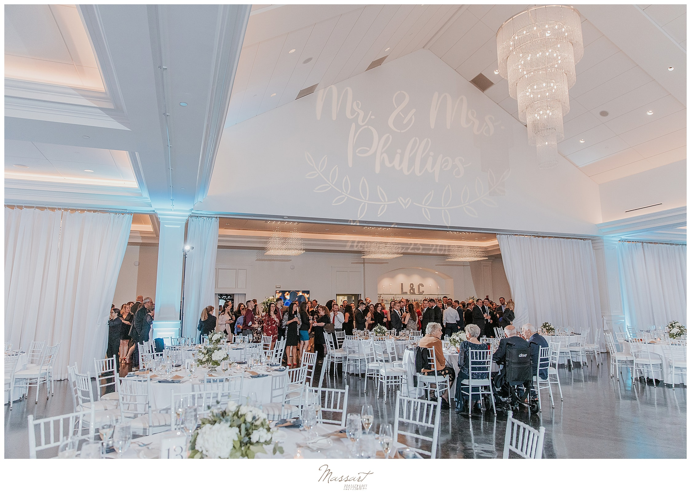 wedding reception at Lakeview Pavilion with Massart Photography