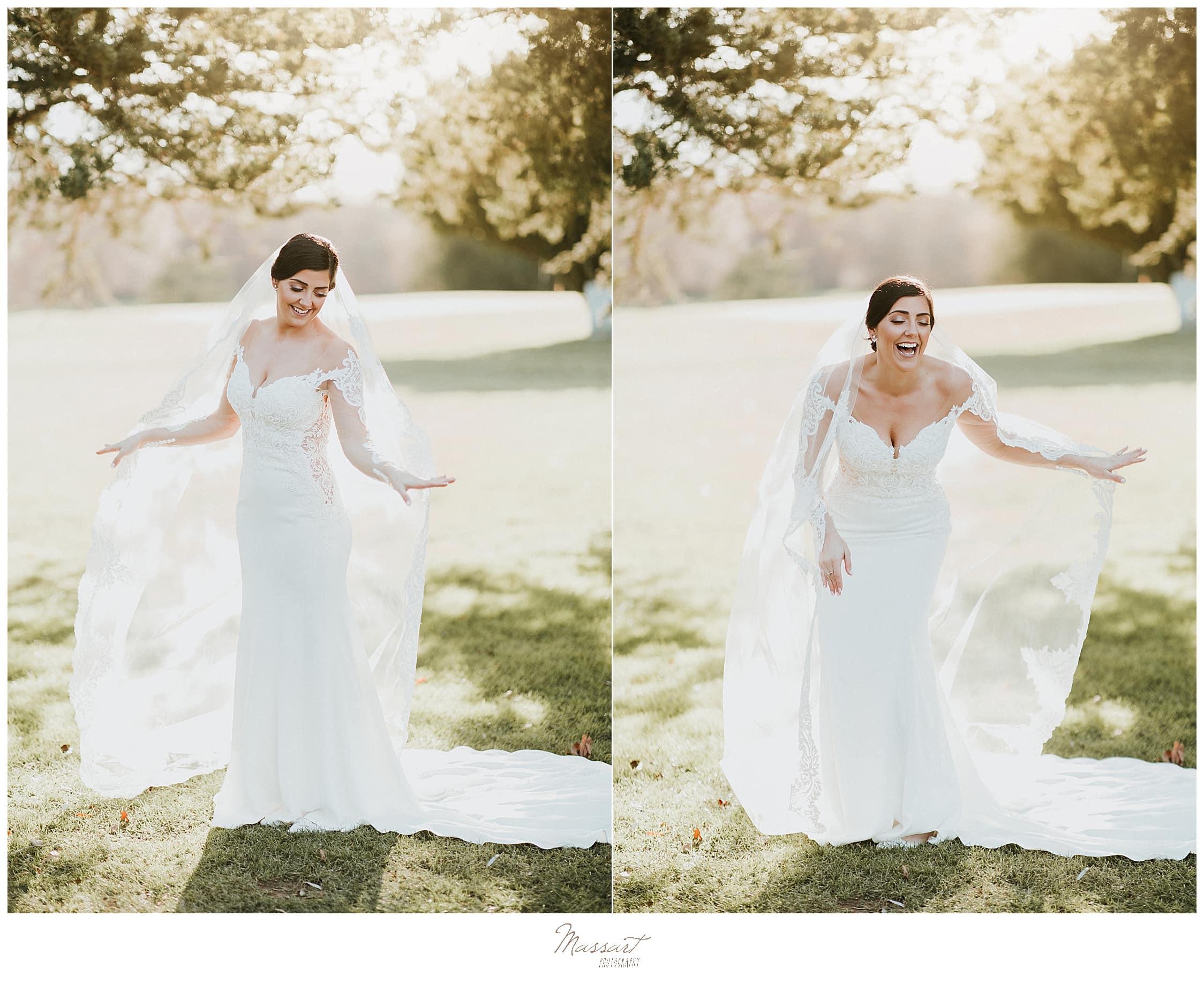 joyful bridal portraits by Massart Photography in Foxboro MA
