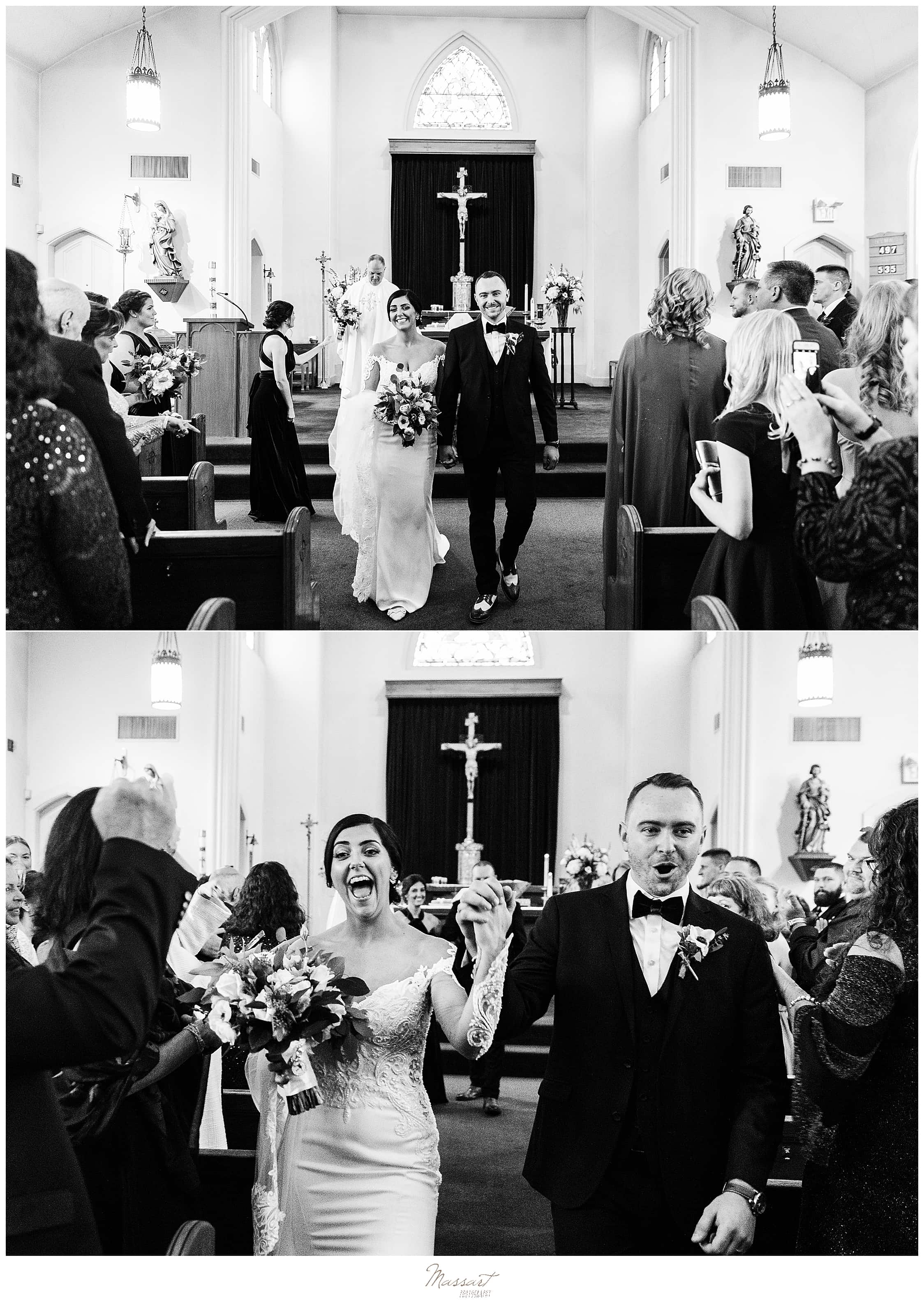 traditional church ceremony photographed by RI, MA, CT wedding photographers Massart Photography
