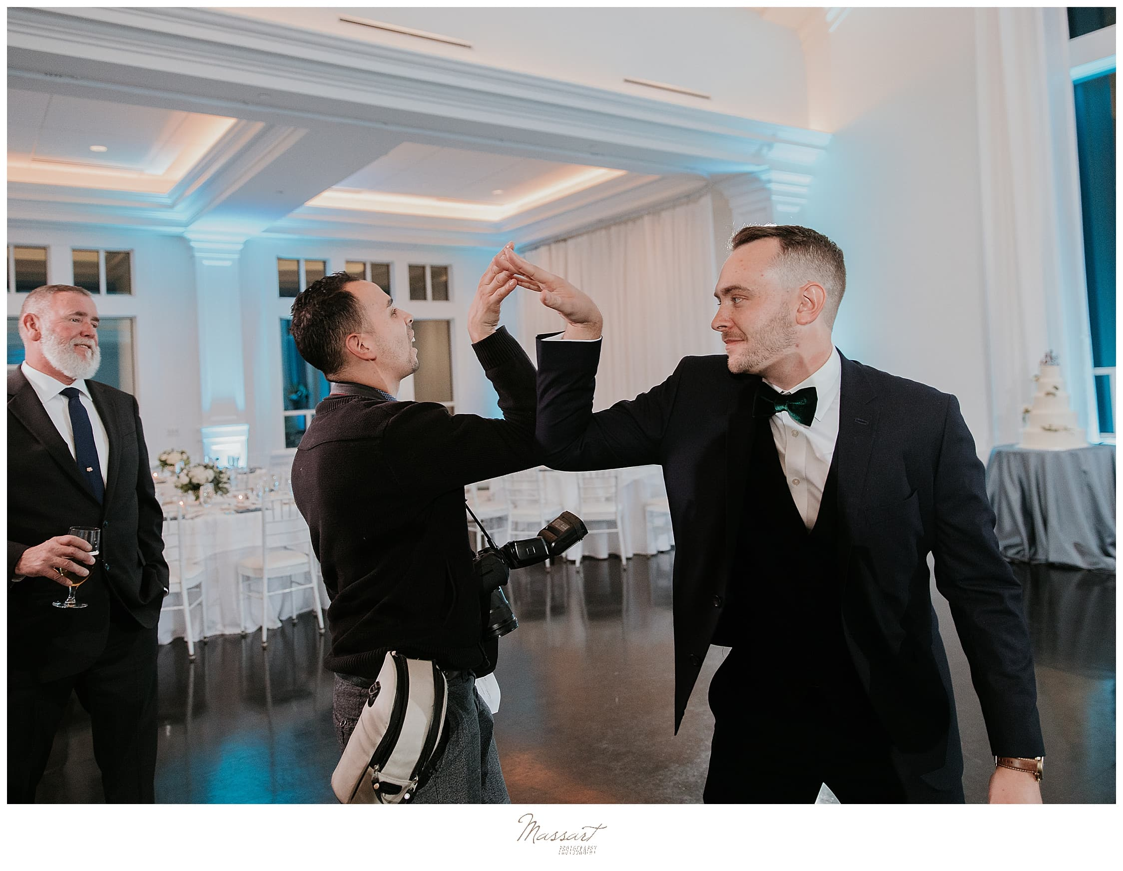 wedding reception dancing photographed by Massart Photography