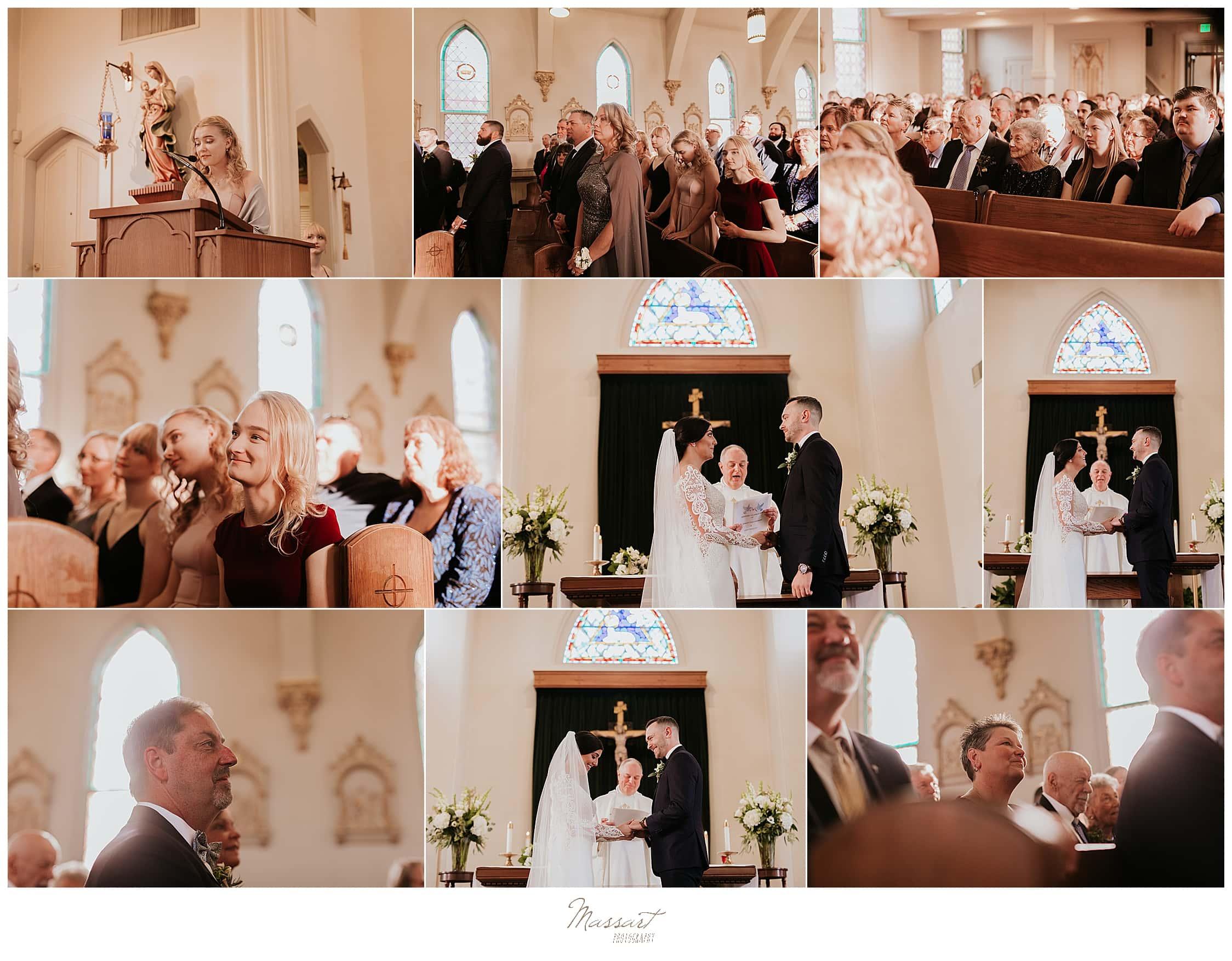 church ceremony photographed by Foxboro MA wedding photographers Massart Photography