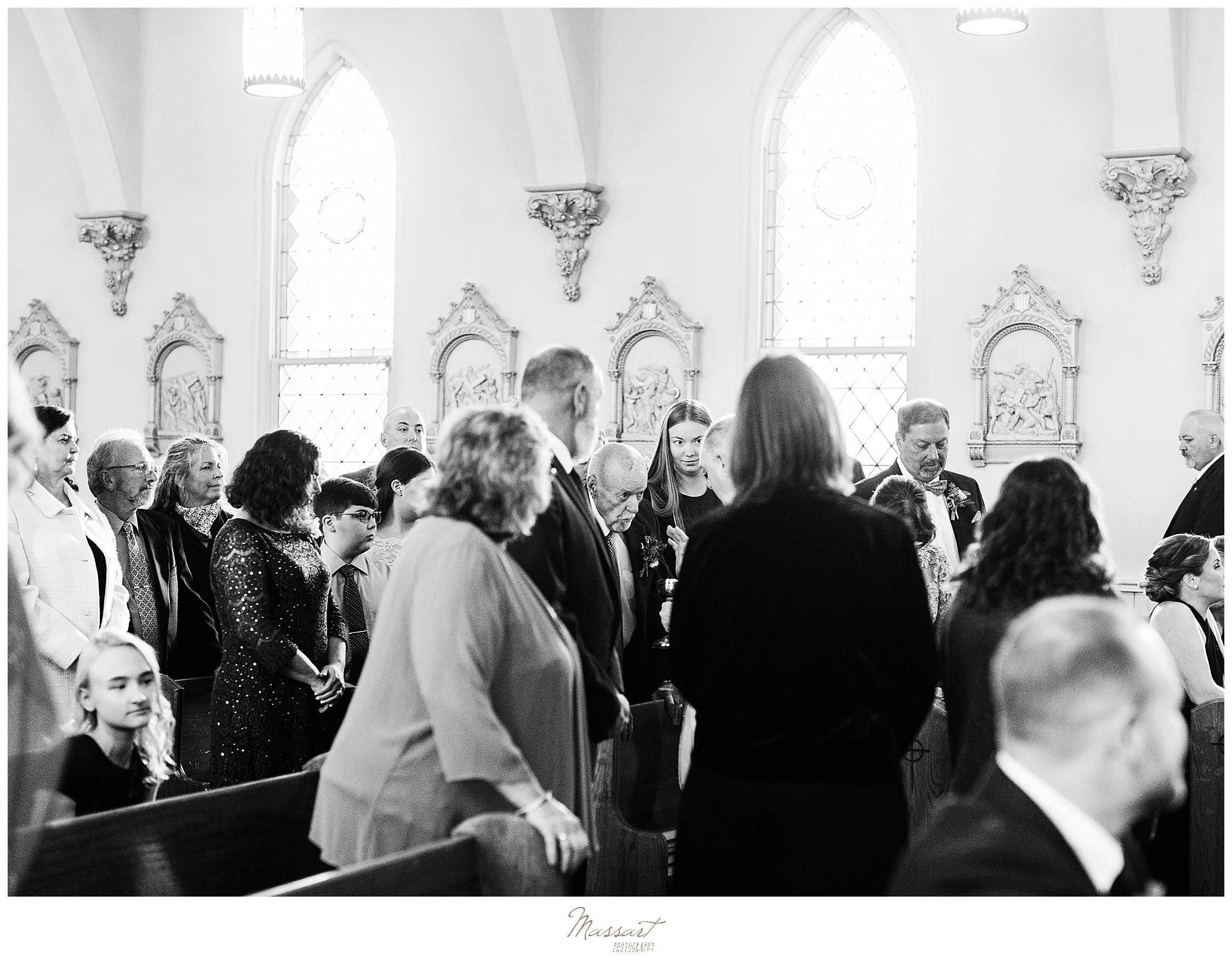 wedding ceremony in church photographed by Massart Photography
