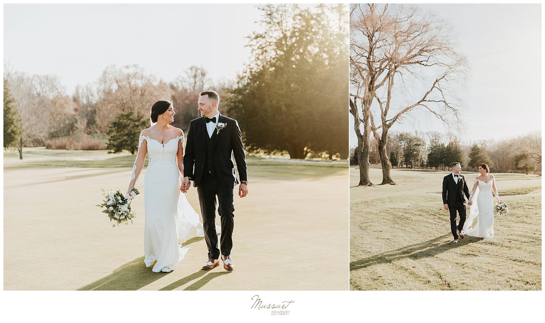 fall wedding portraits in Foxboro MA with Massart Photography