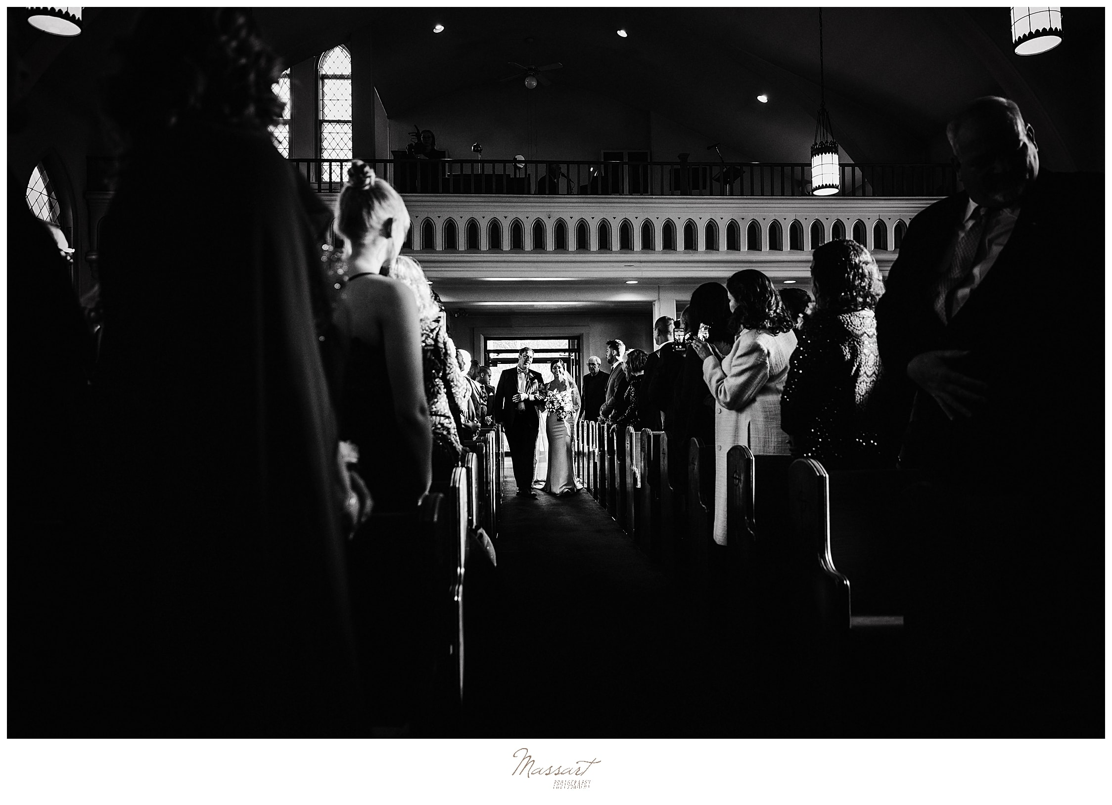 church wedding ceremony photographed by Massart Photography