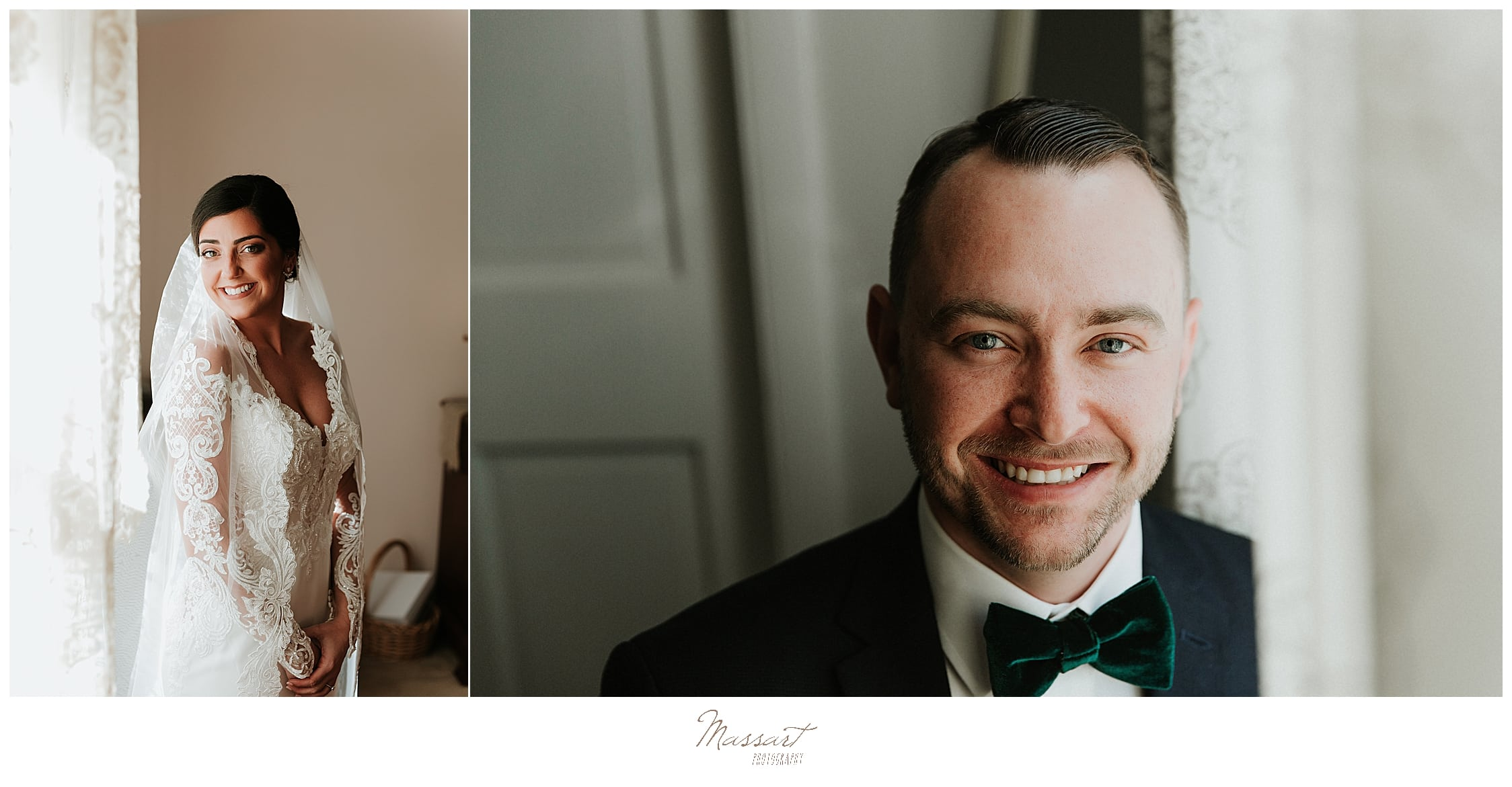 groom and bride portraits before Foxboro MA wedding day by Massart Photography
