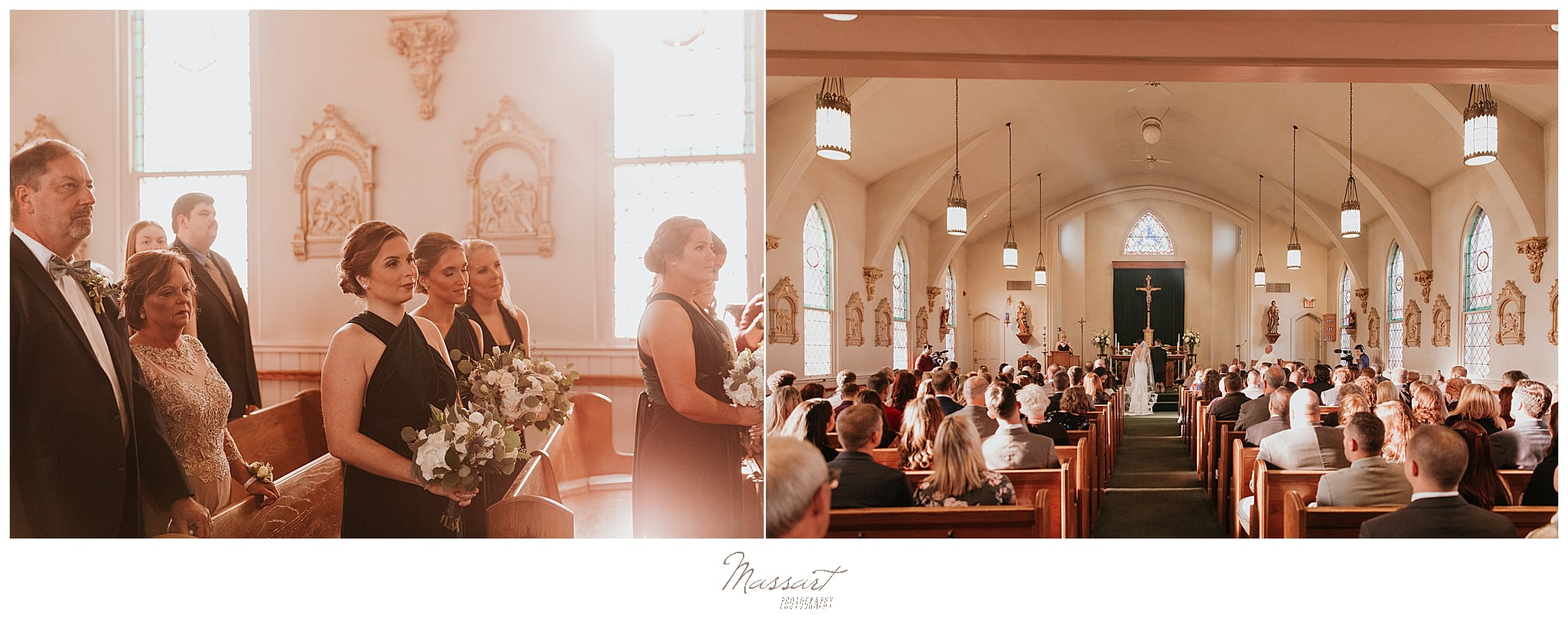 traditional church ceremony in Lincoln MA photographed by Massart Photography