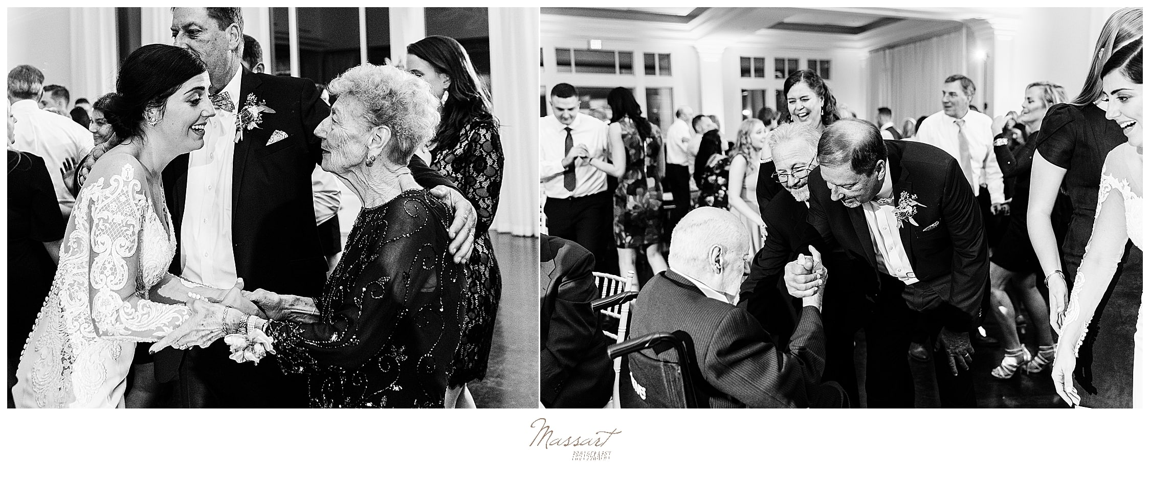 bride greets family with Massart Photography