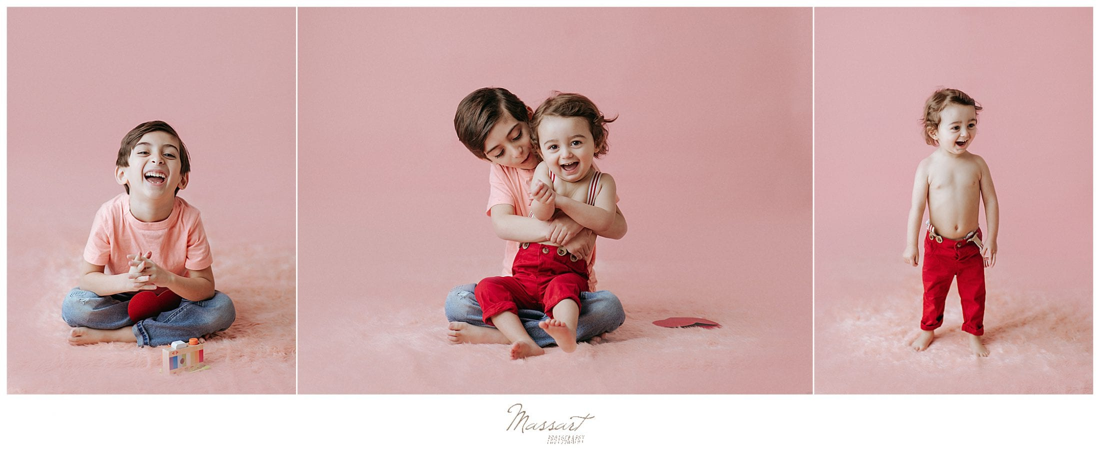 Studio family session by Massart photographers, RI, CT and MA