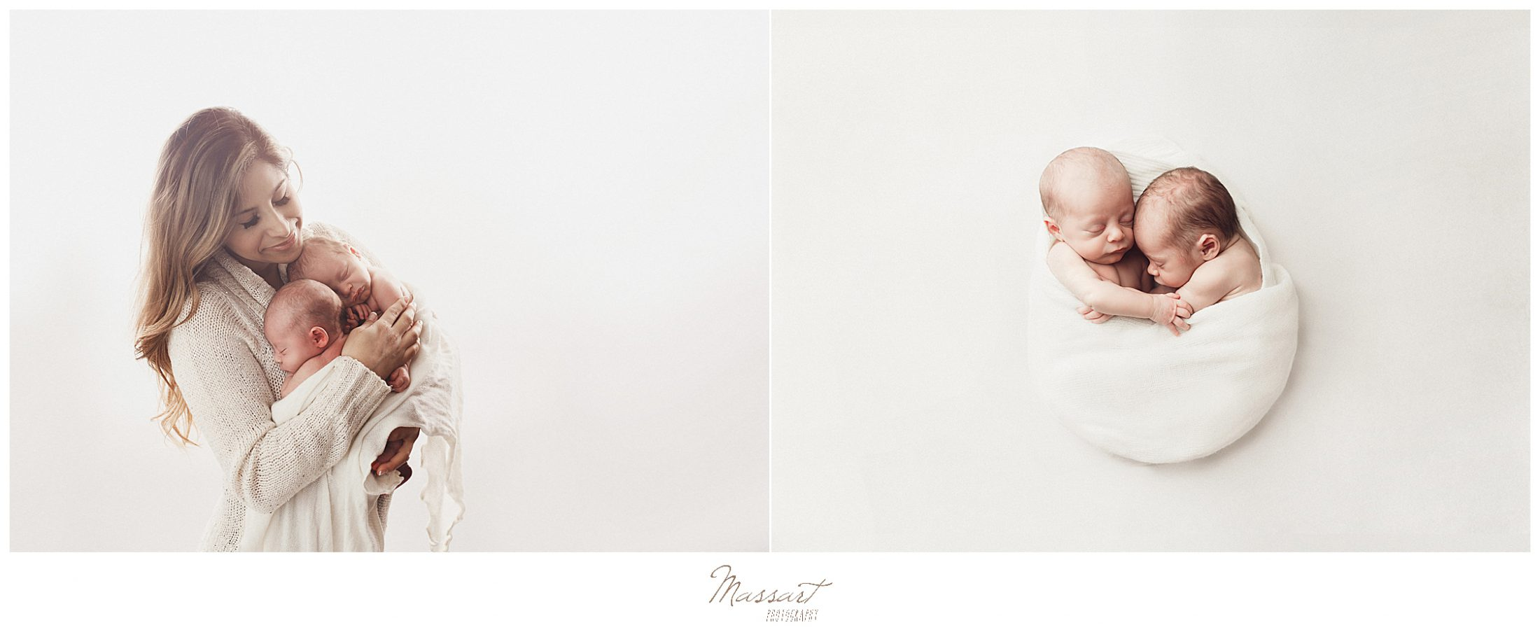 Portrait of twins during a baby photoshoot in Rhode Island