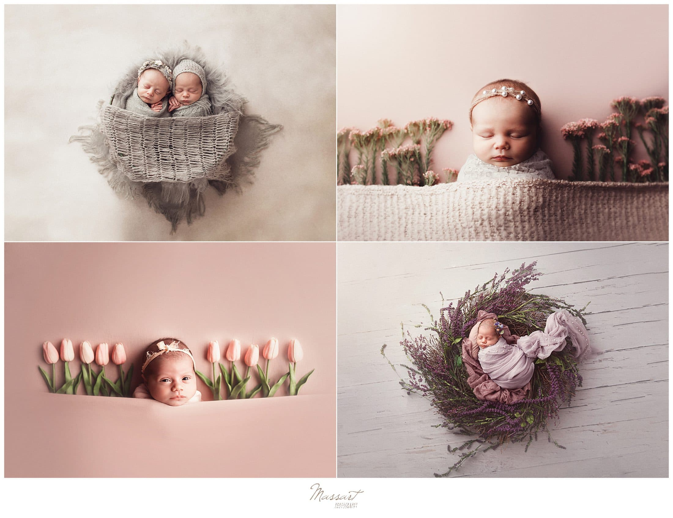 Styled baby images during a newborn portrait session with Massart Photography in Rhode Island
