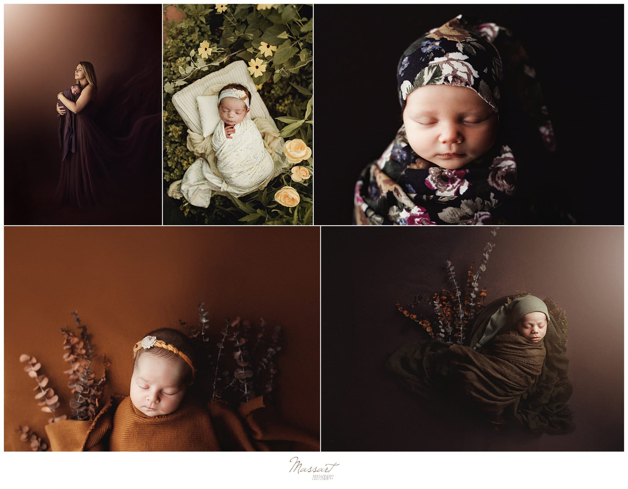 Baby photos taken by Massart Photographers during newborn photo session in Rhode Island
