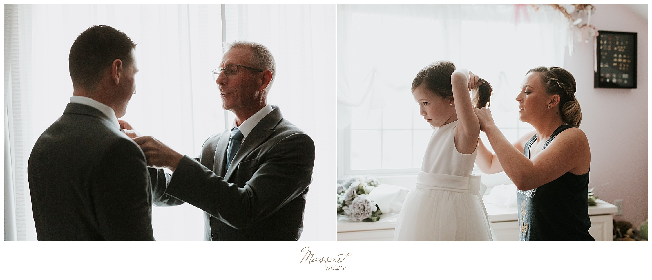 wedding day preparations in MA photographed by Massart Photography