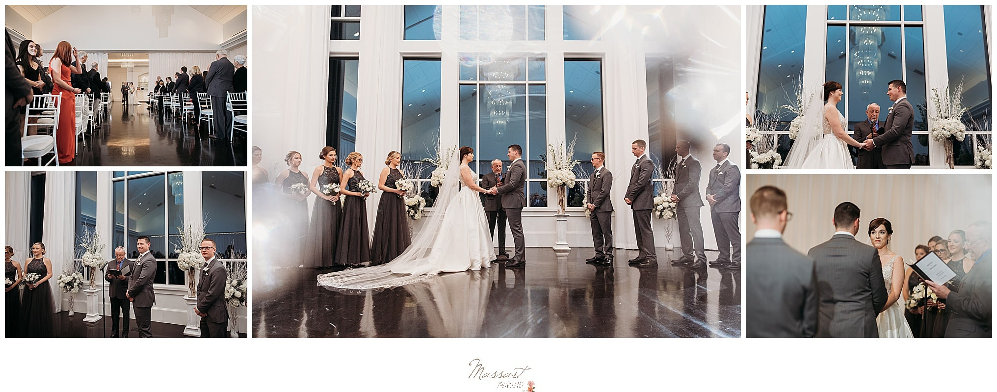 bride and groom at wedding ceremony creative photography by Massart Photography