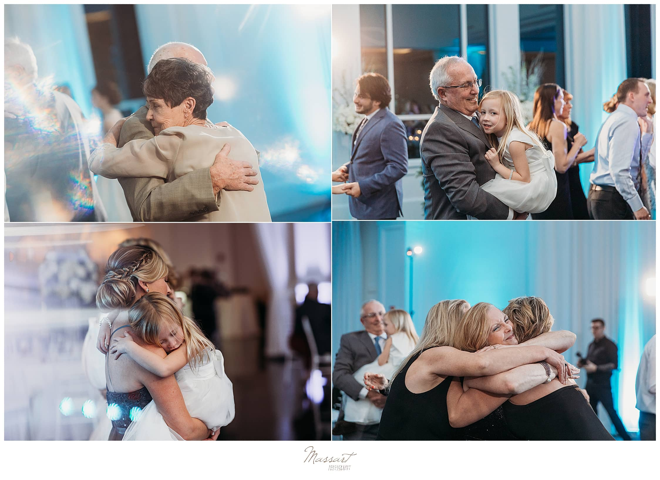 guests dance at MA wedding with Massart Photography