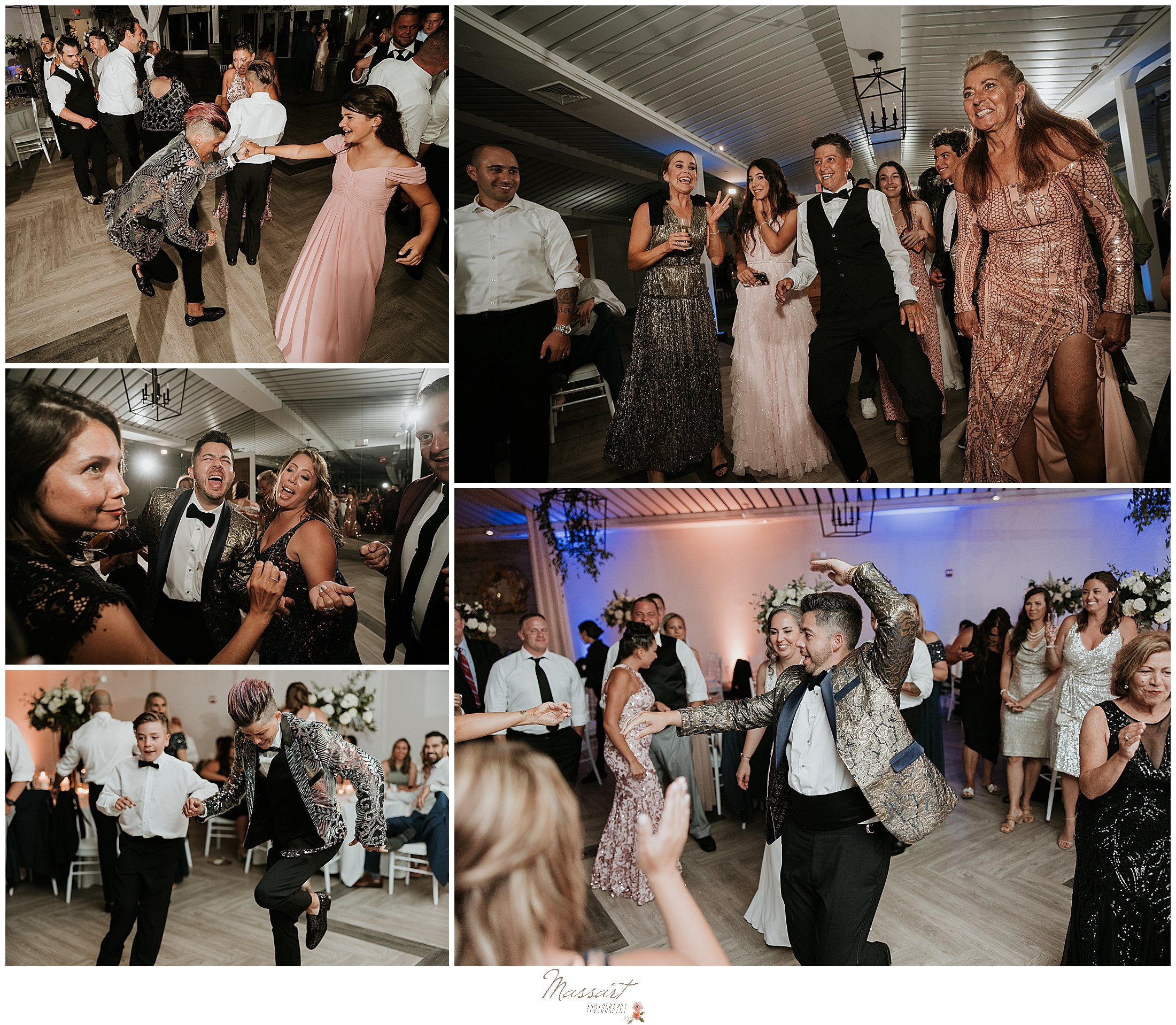 guests dance during RI wedding reception