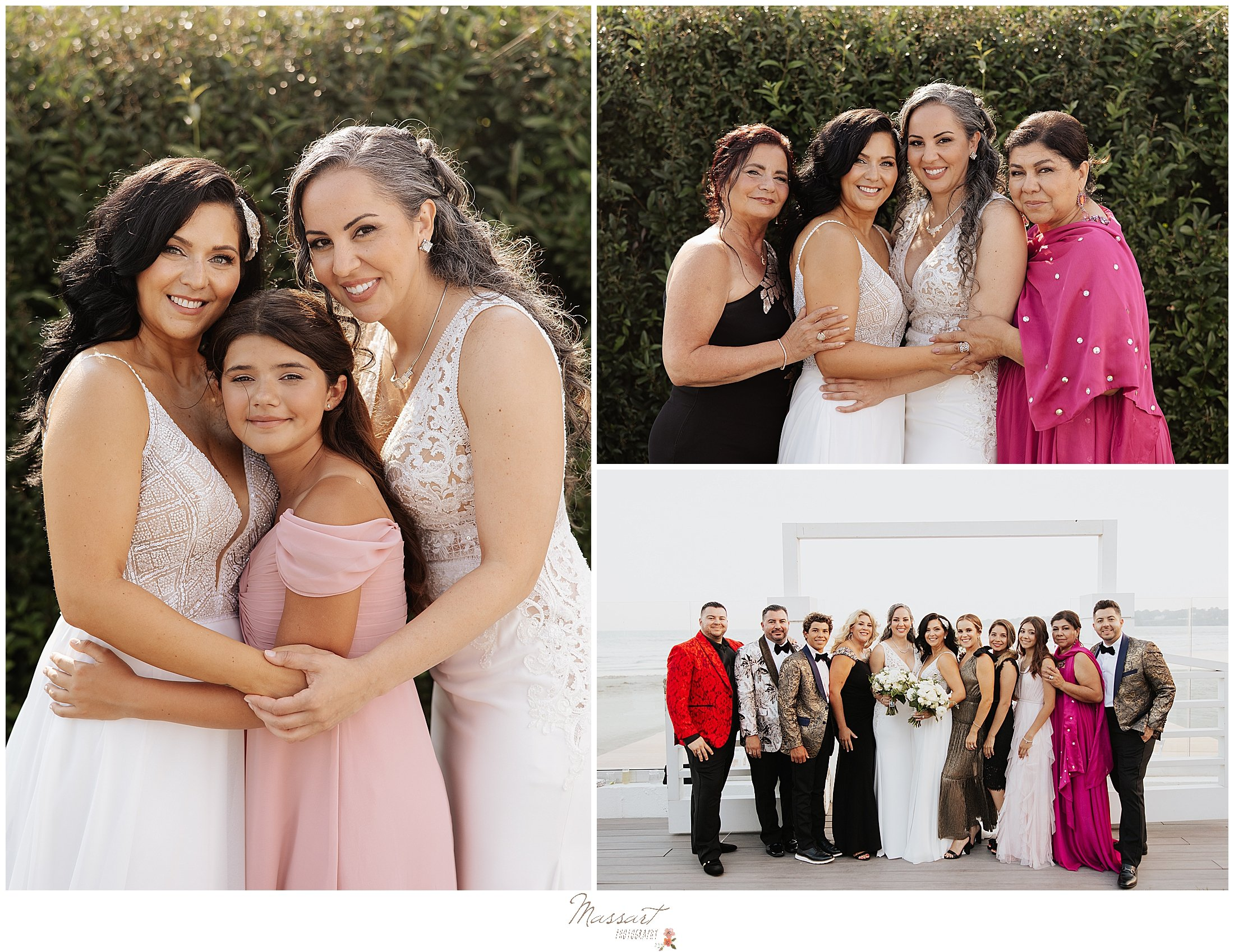 family portraits after Newport Beach House wedding ceremony