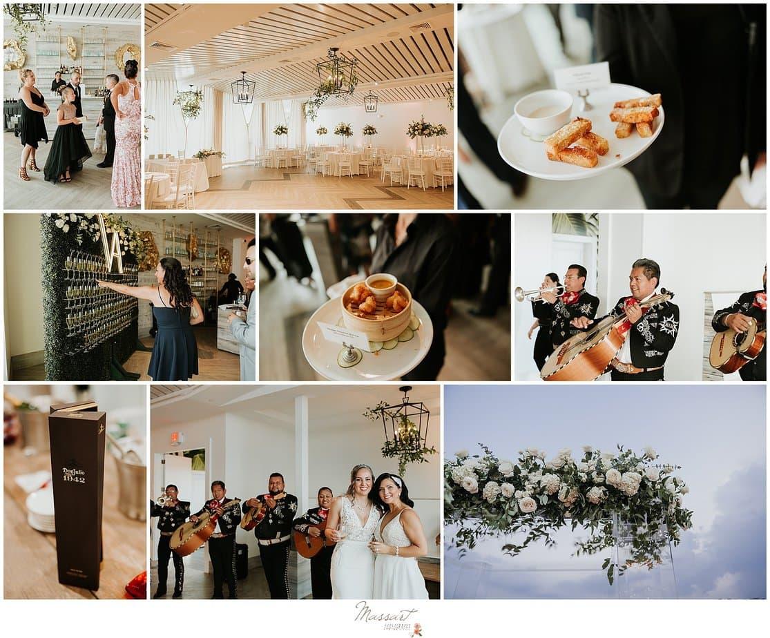 Newport Beach House wedding reception details