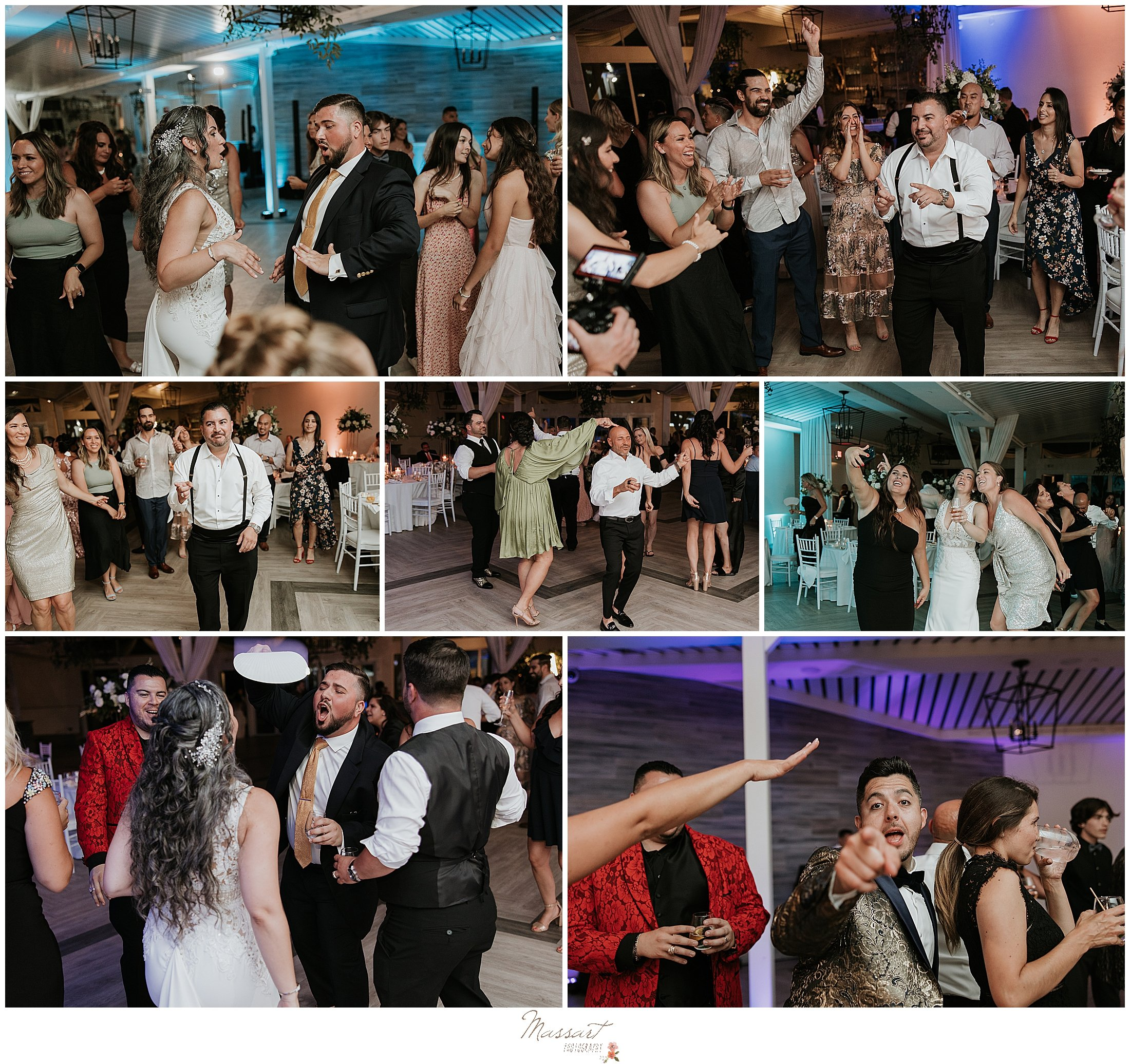 guests dance during Rhode Island wedding day