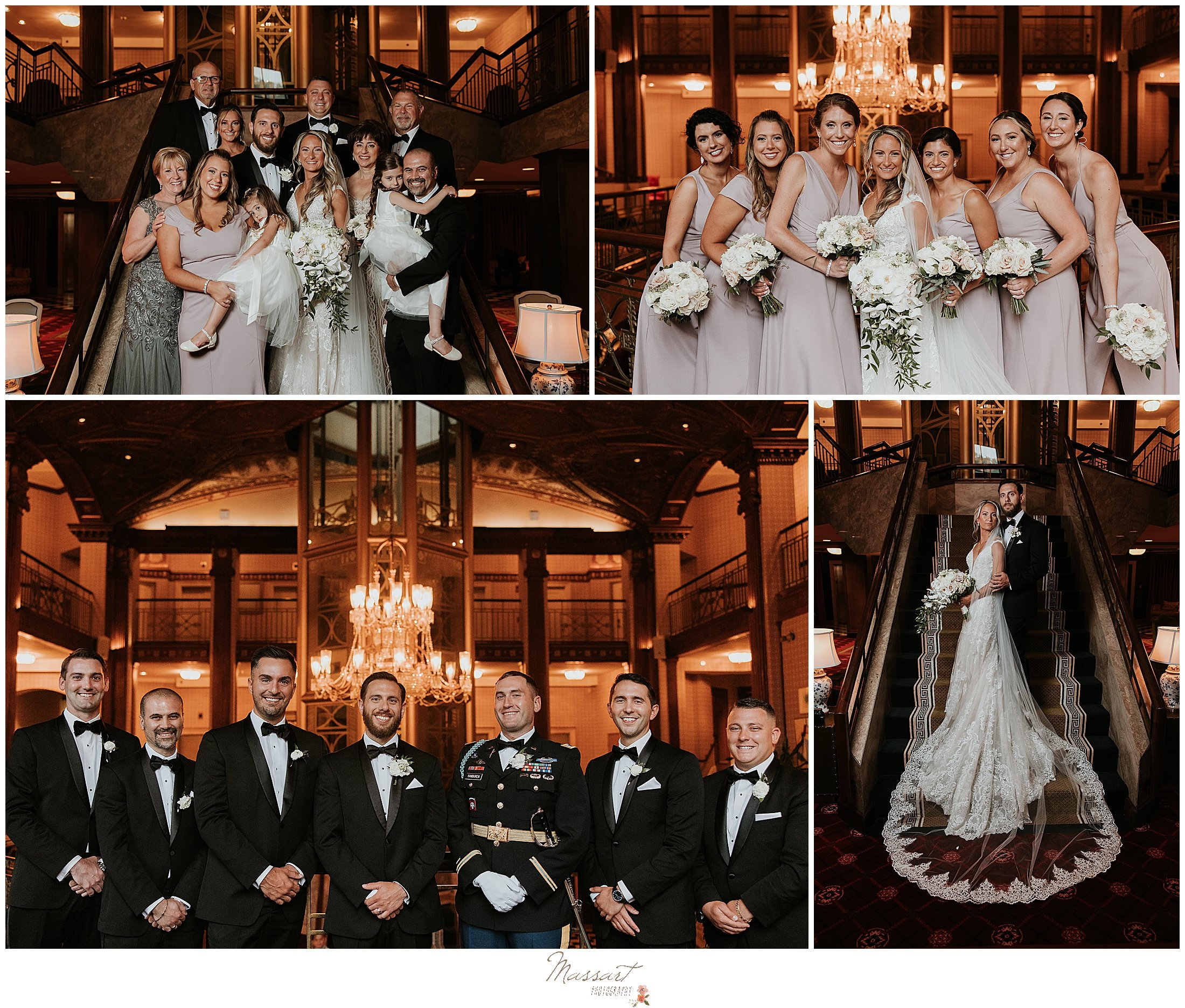bridal party portraits in The Graduate Providence