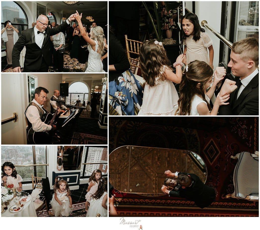 wedding reception fun at The Graduate Hotel