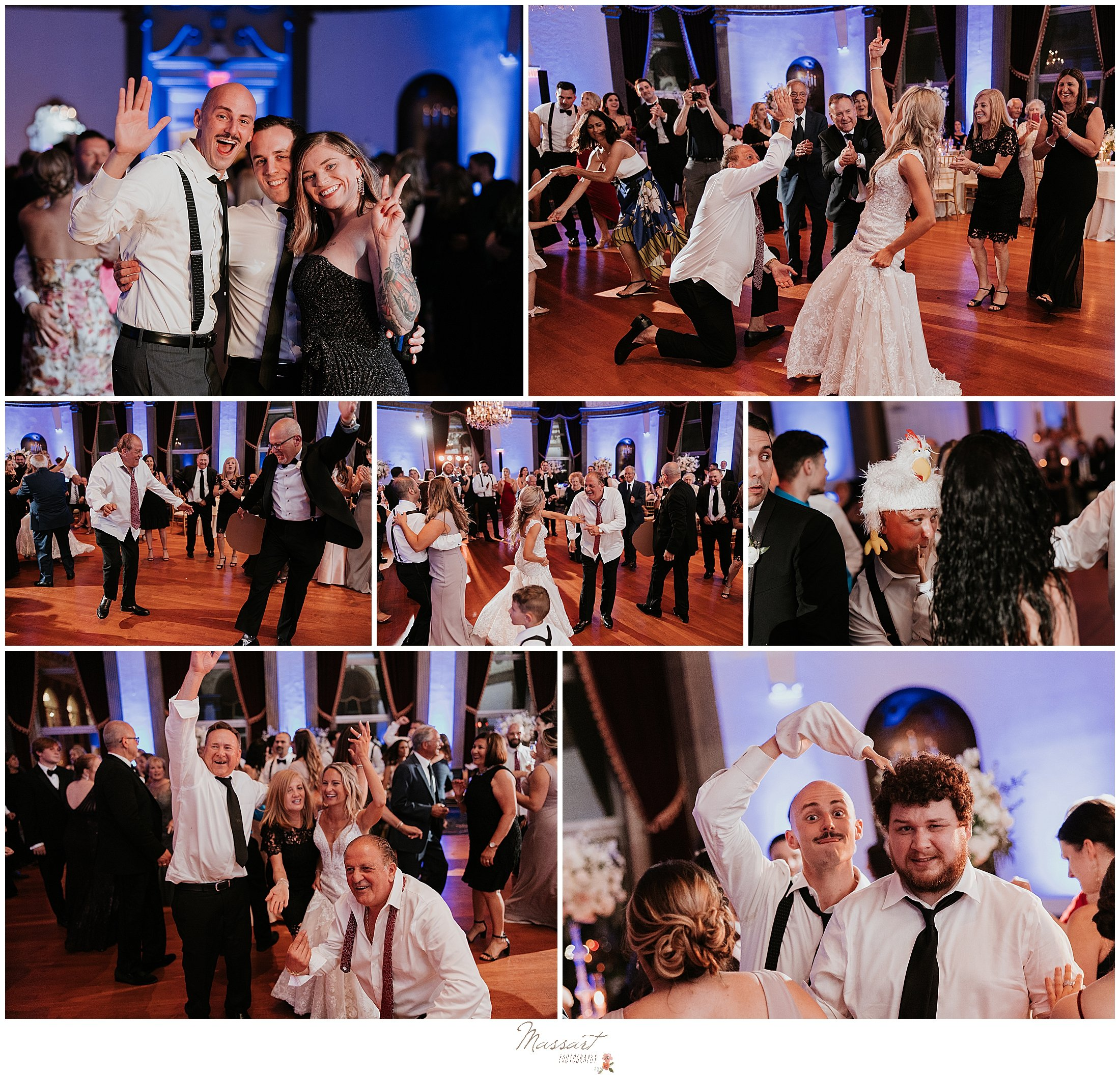 guests dance during Providence RI wedding reception