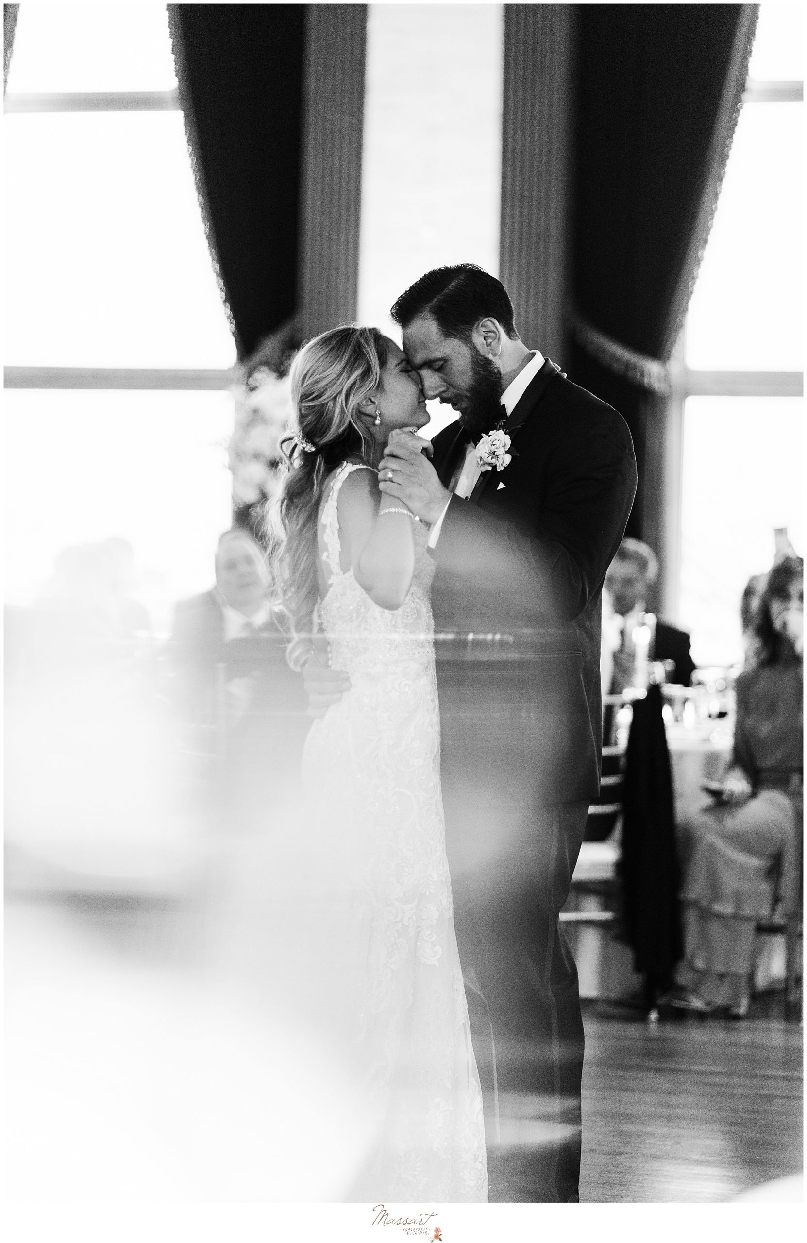bride and groom have first dance at the Graduate