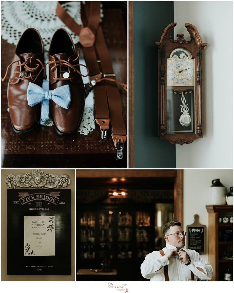 Groom details getting ready for RI wedding