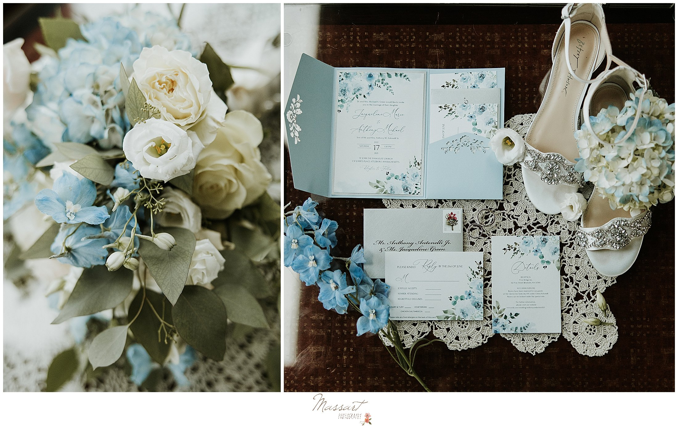 Bride's details are captured by RI newborn and wedding photographers