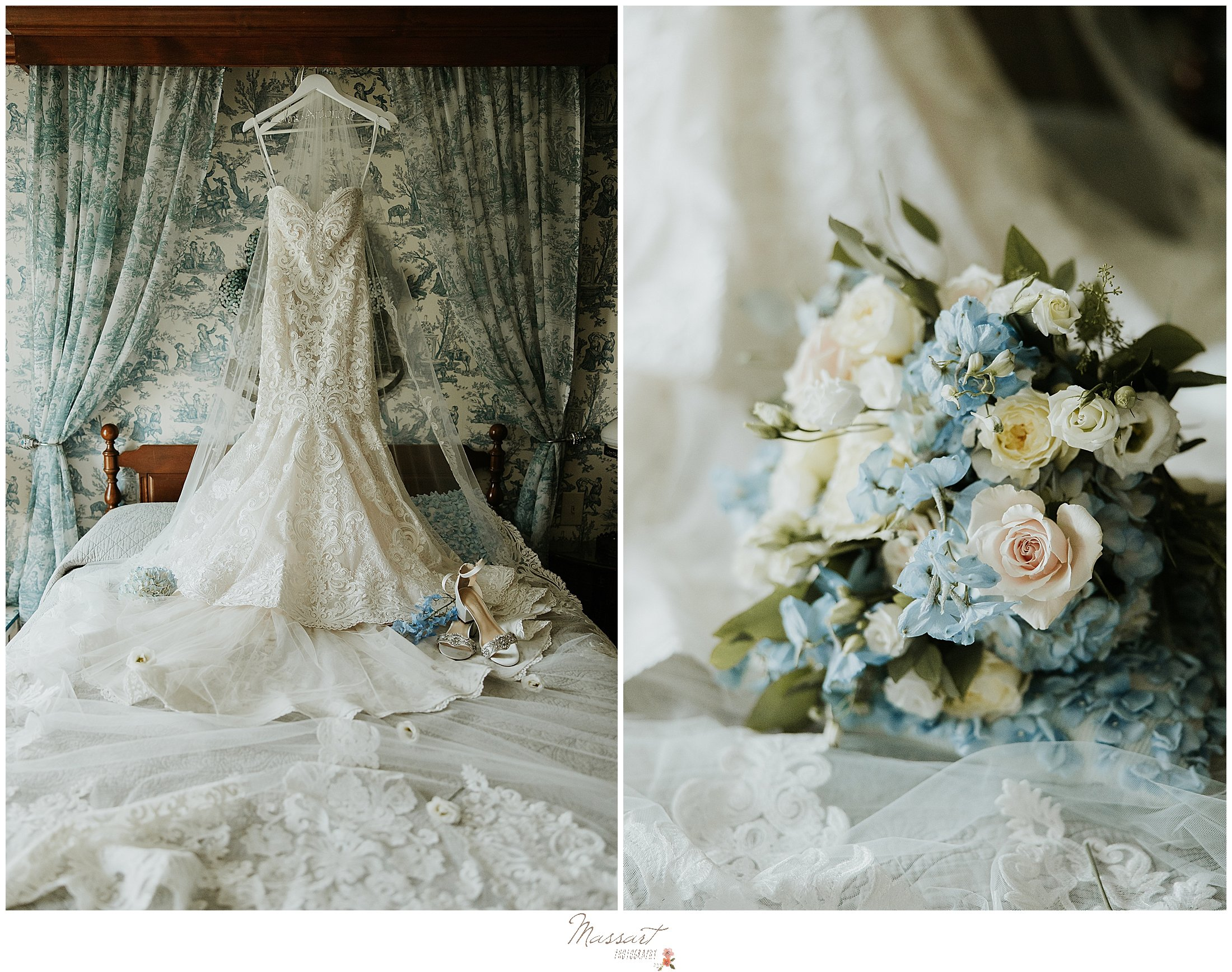 RI family and newborn photographers capture the wedding gown