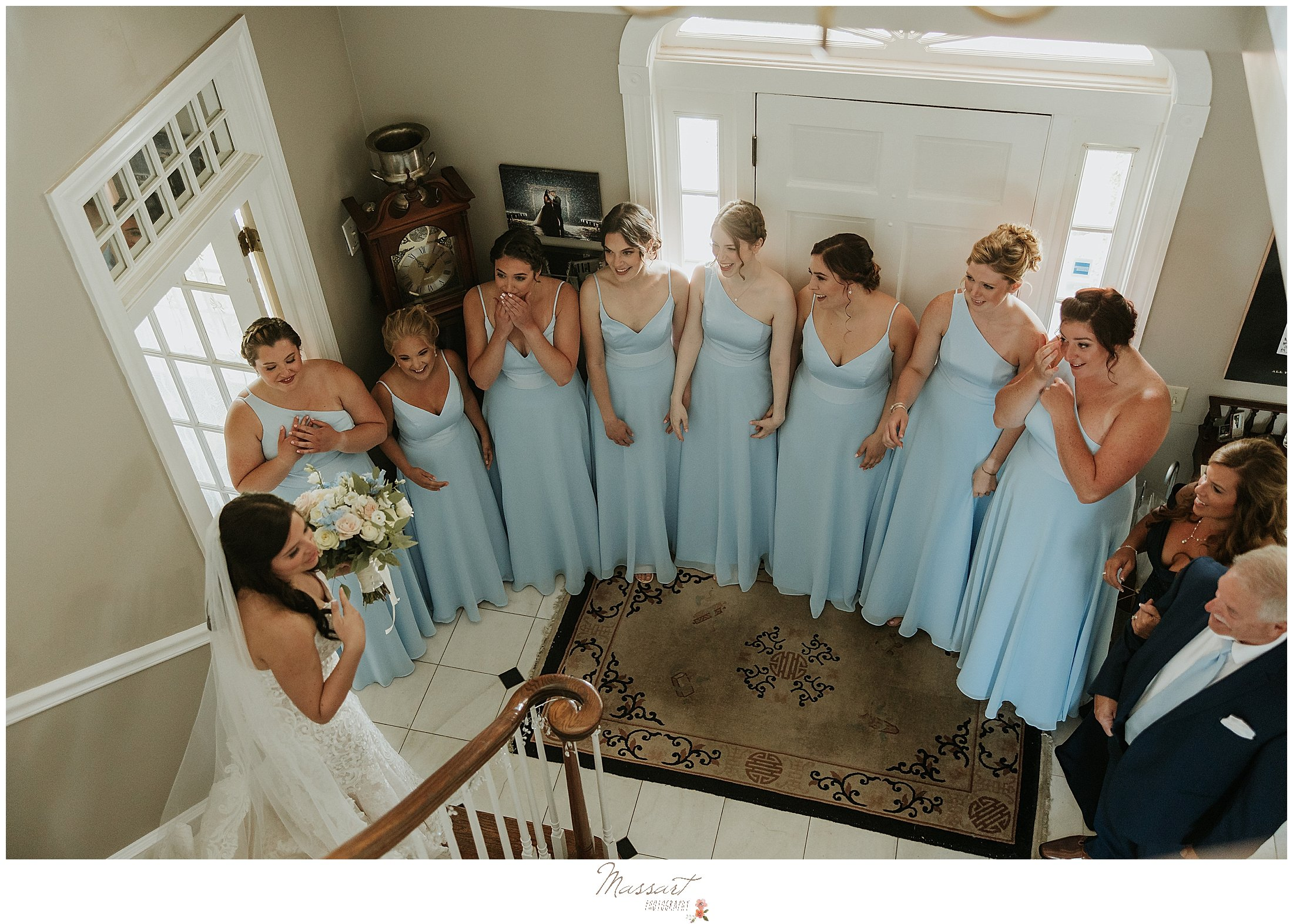 RI photographers capture bride seen by her bridesmaids for first look